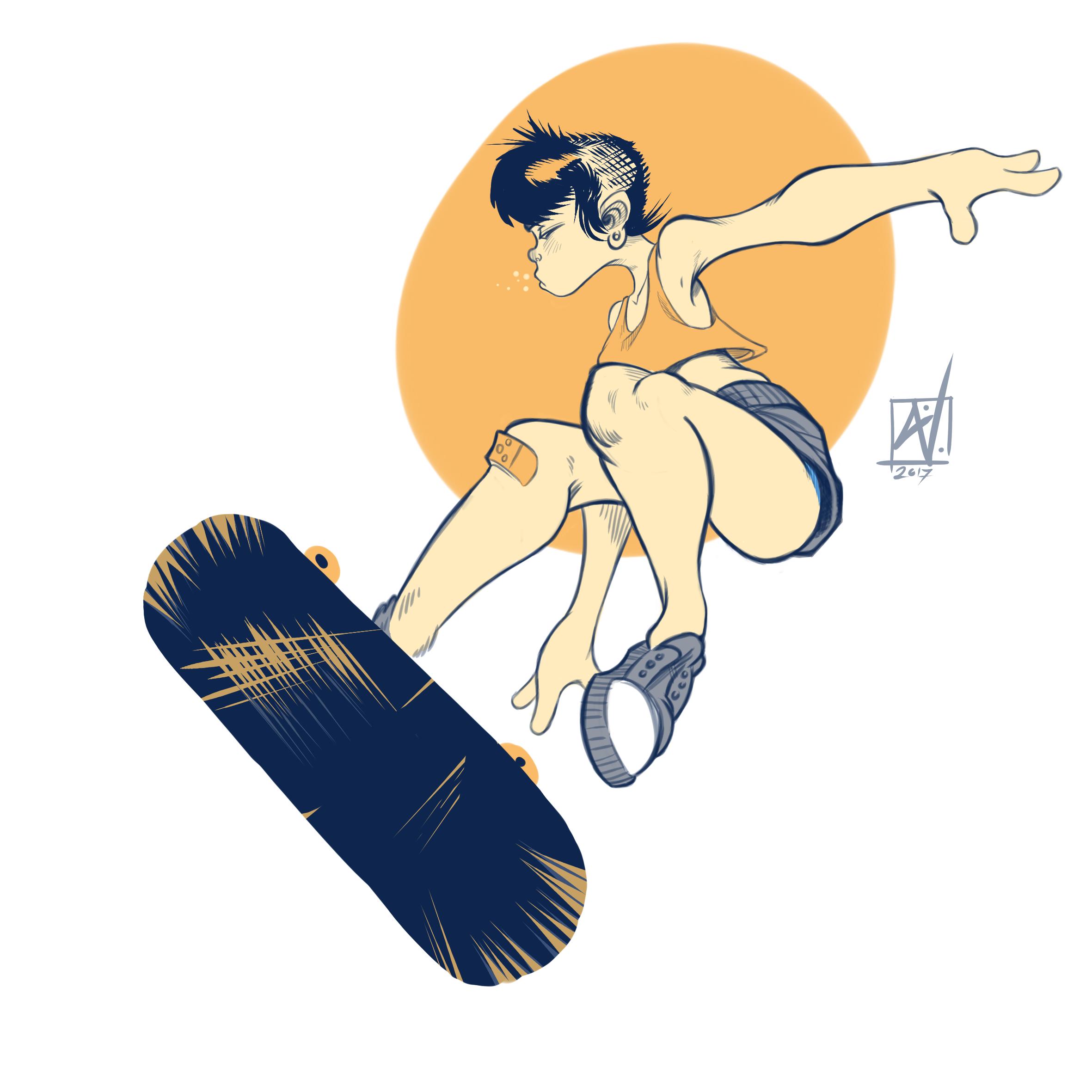 Skating Skingirl
