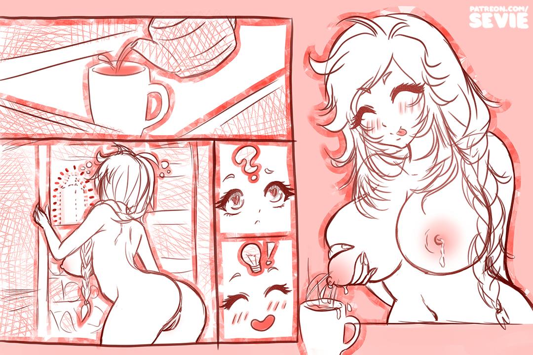 #30DayOCDC - Day 16 - coffee and milk - OC Design