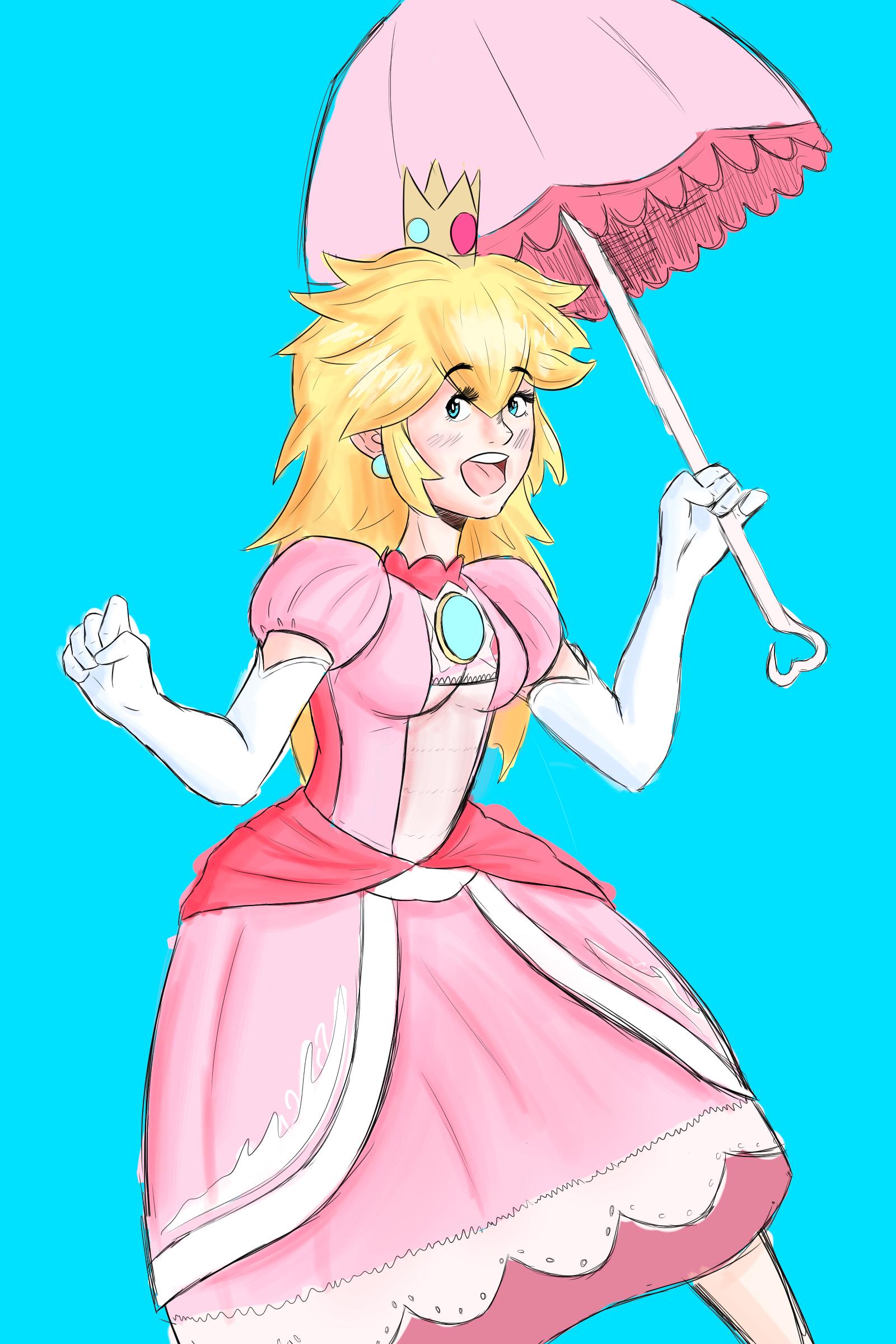 Coloured Peach sketch