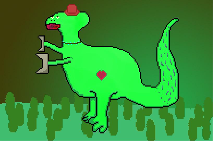 Robo Dino (with heart)
