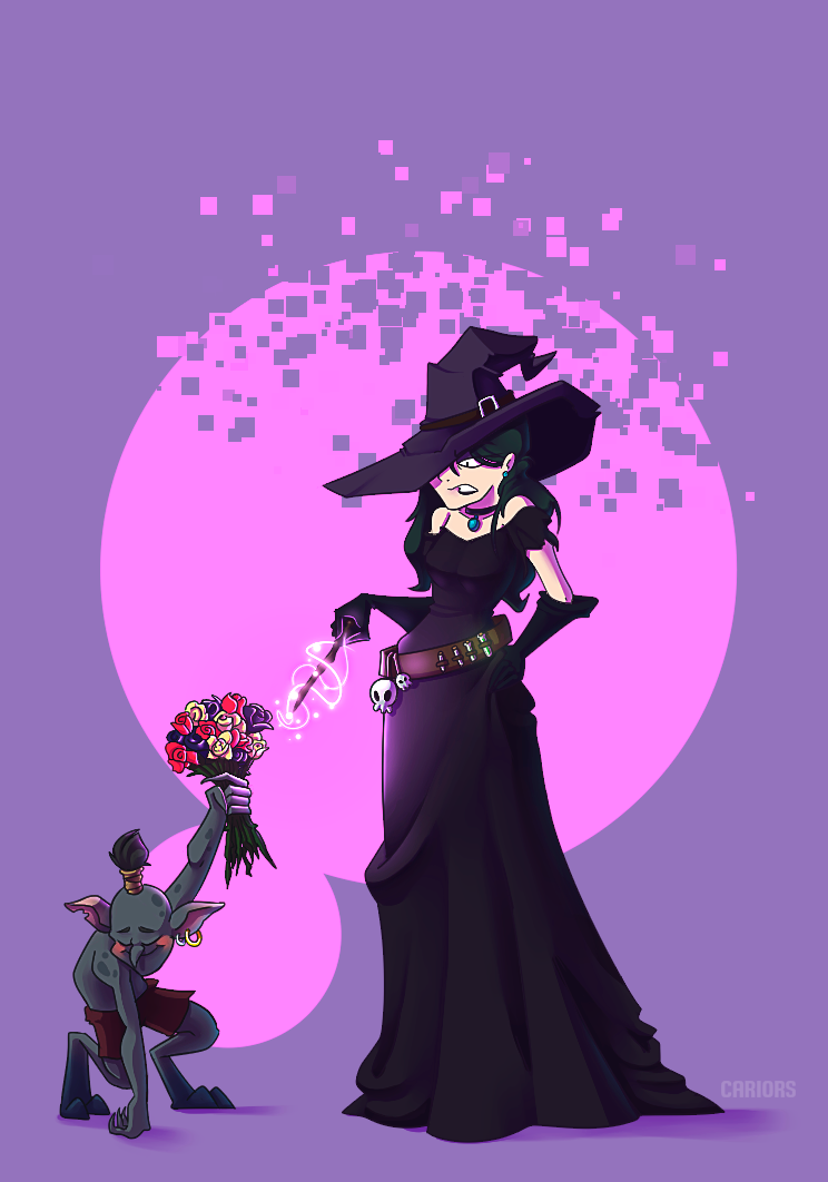 Witch and goblin