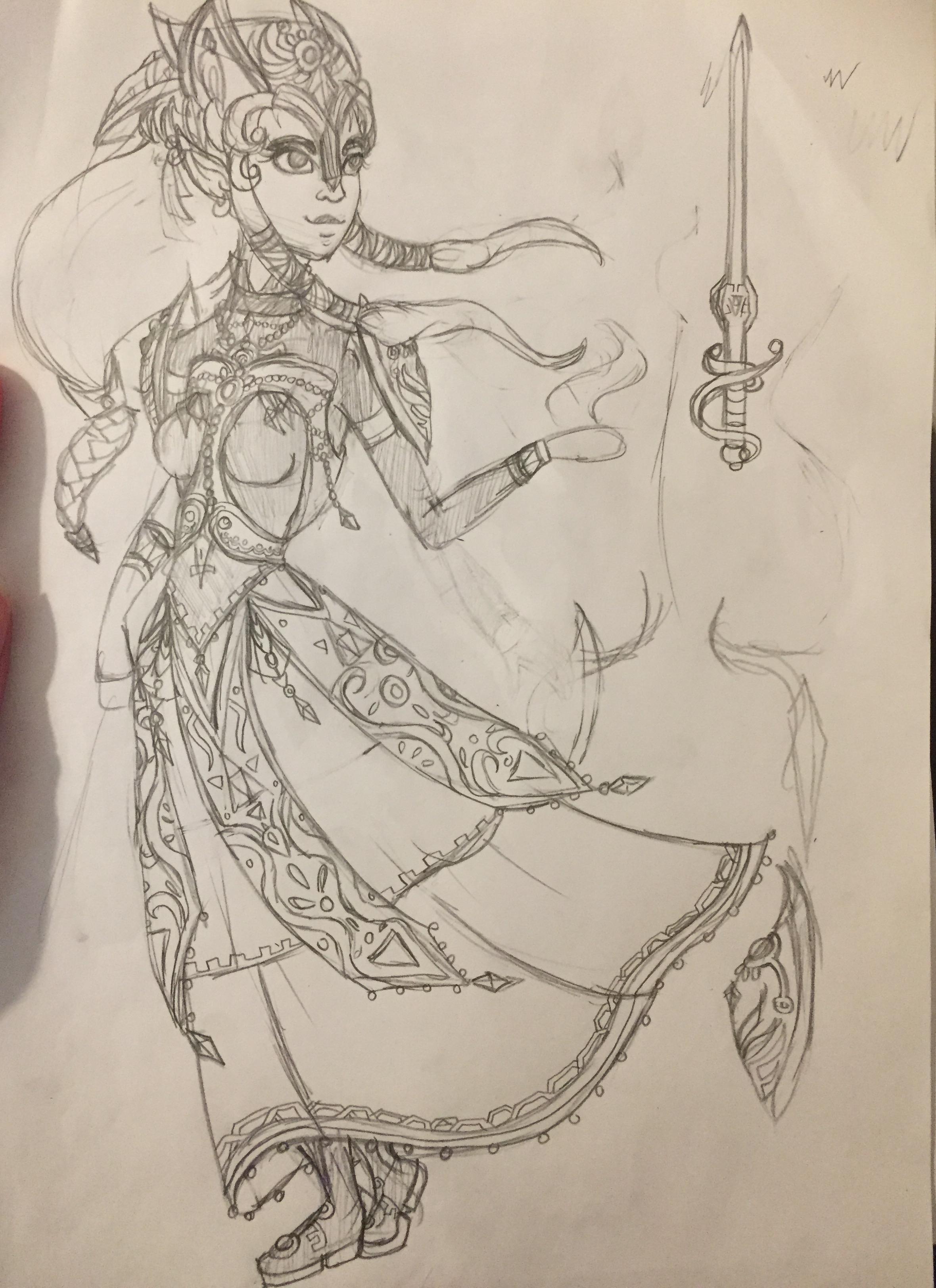 Sketch for Level 99 COTM!