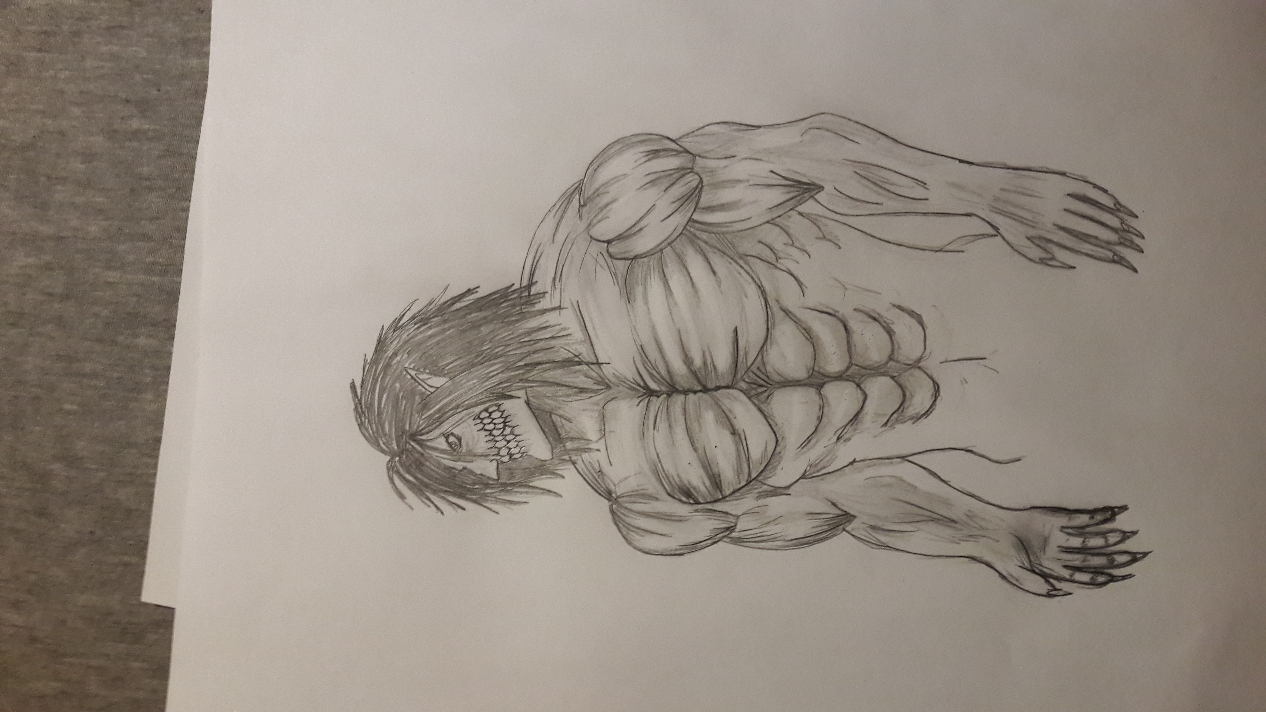 Eren Yeager In Titan Form Lvl Cap Comp I Made Him Buffer