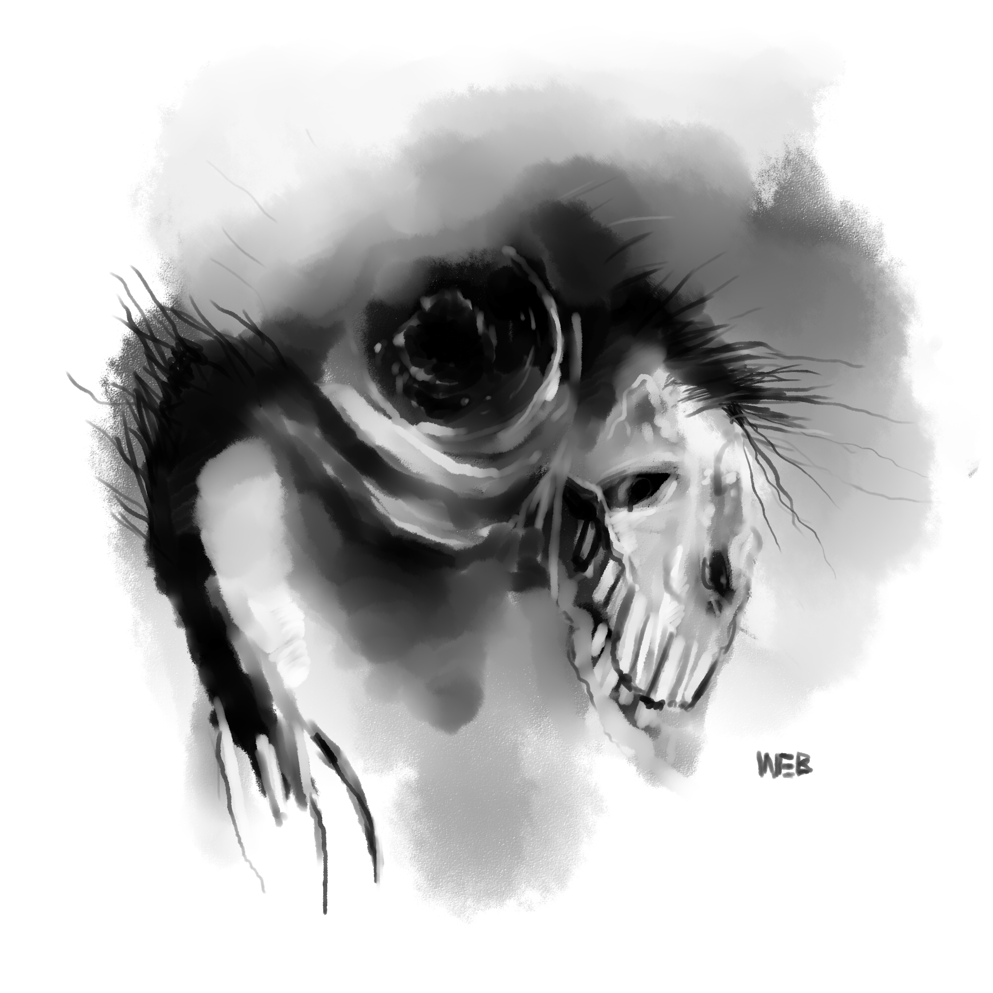 """Bloodborne in the """"Scary stories"""" style: Ludwig"""