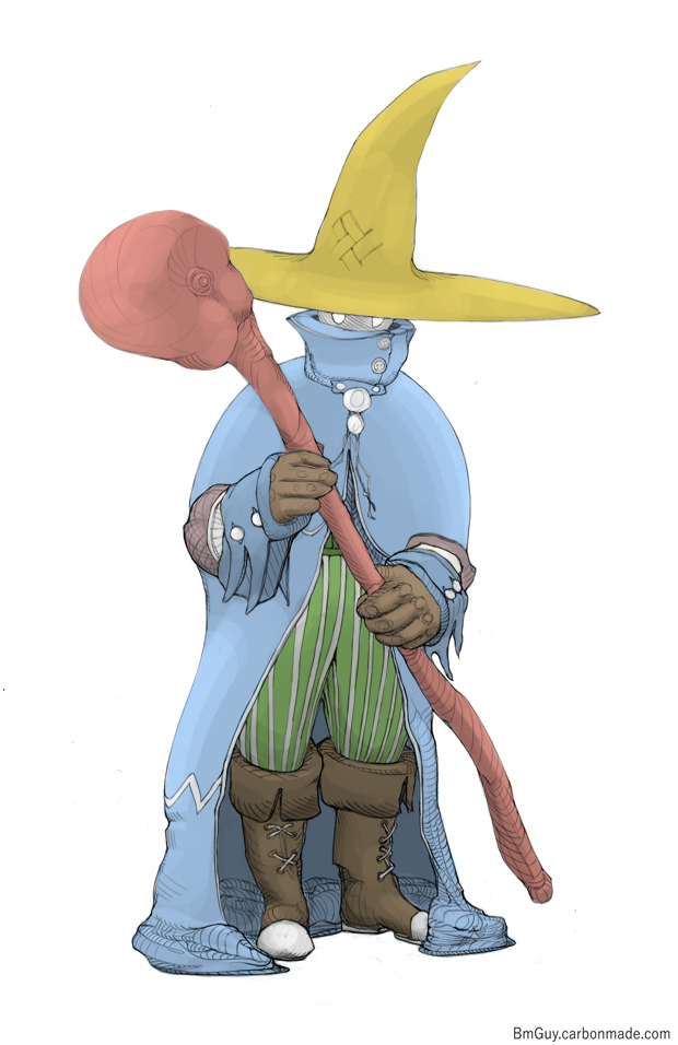 Black Mage, colored