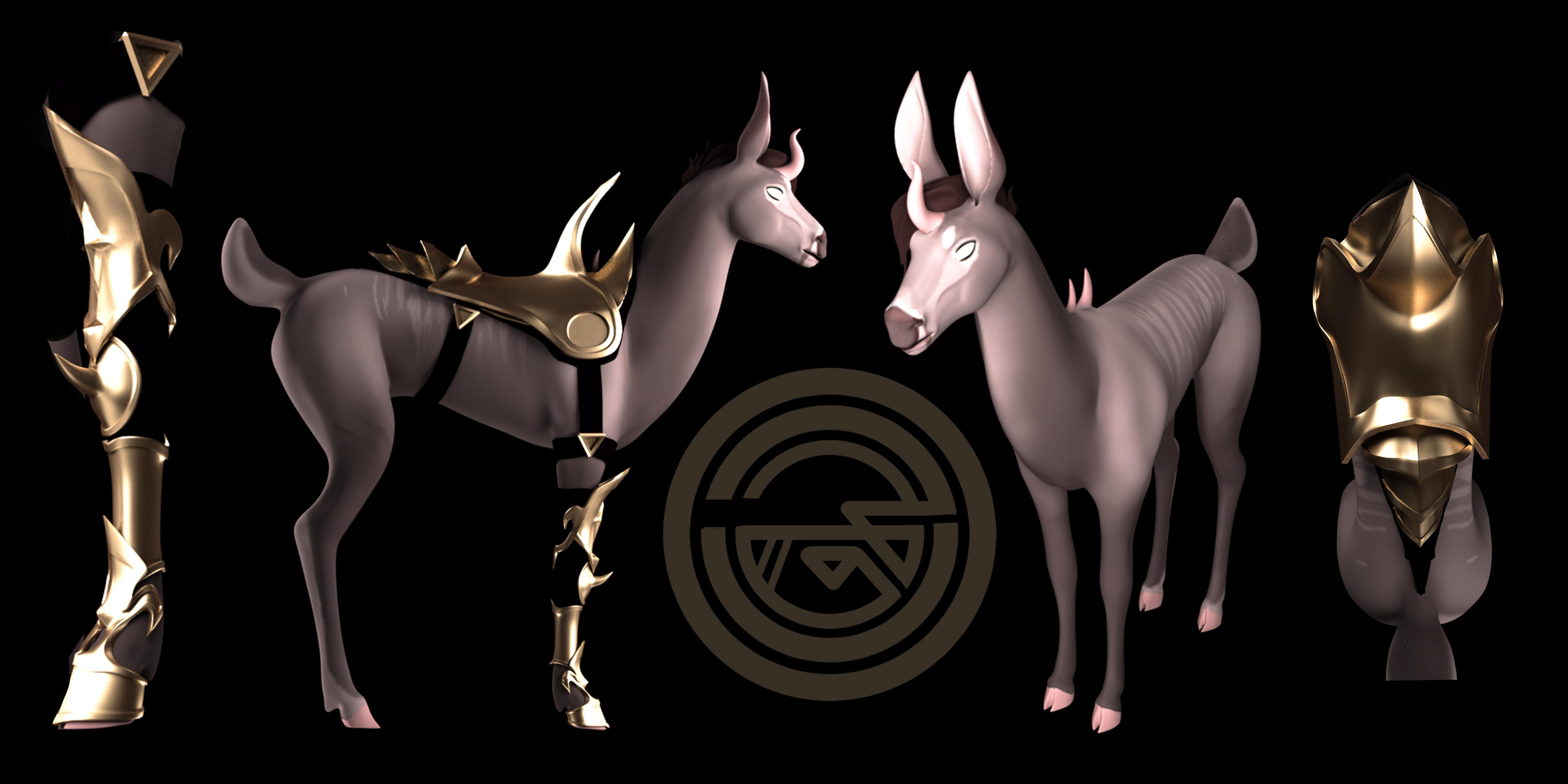 Deer character 3D model
