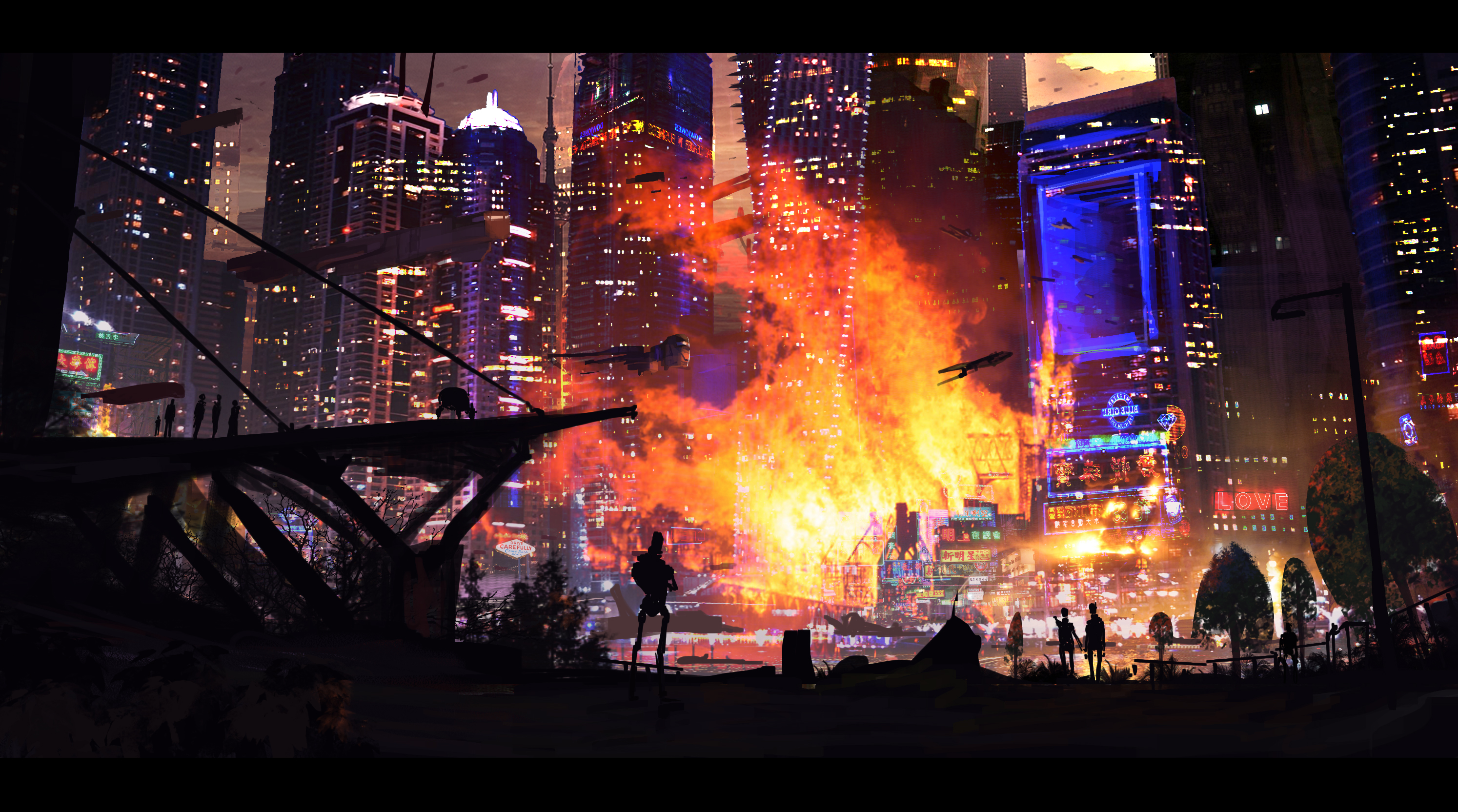 Terror attack on 2177 New York