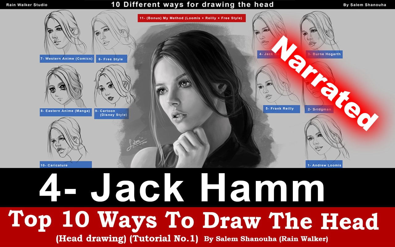 "Top 10 ways to draw the head [4- Jack Hamm] ""Narrated"""