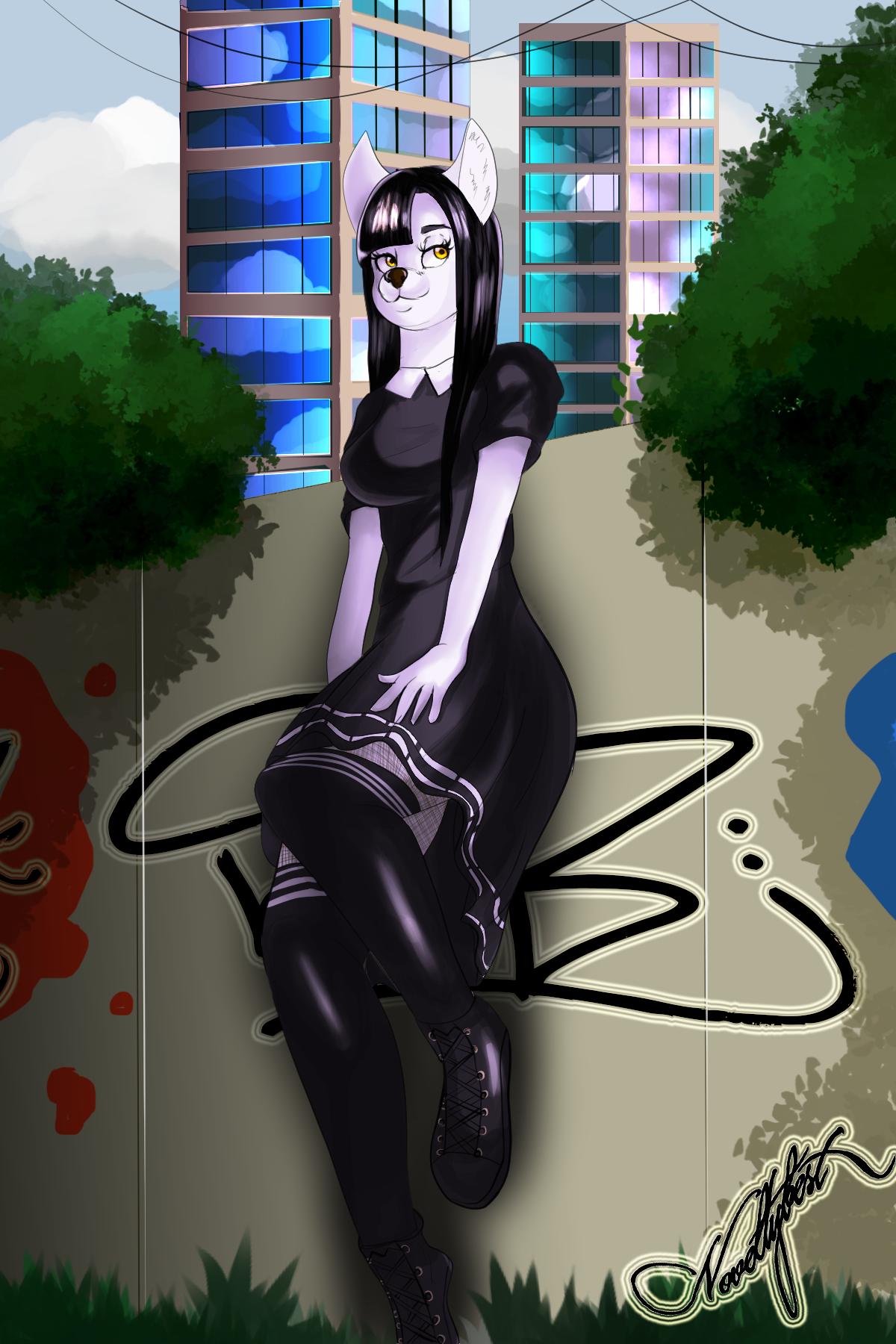 That black dress.