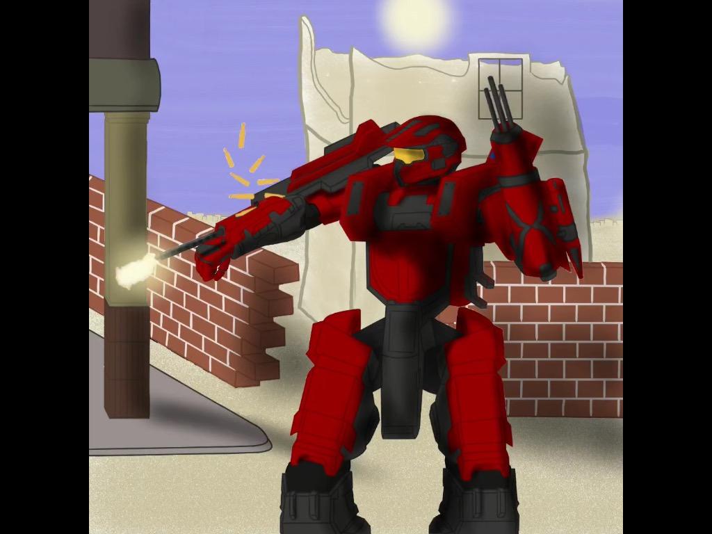 LVL99 red Master Chief