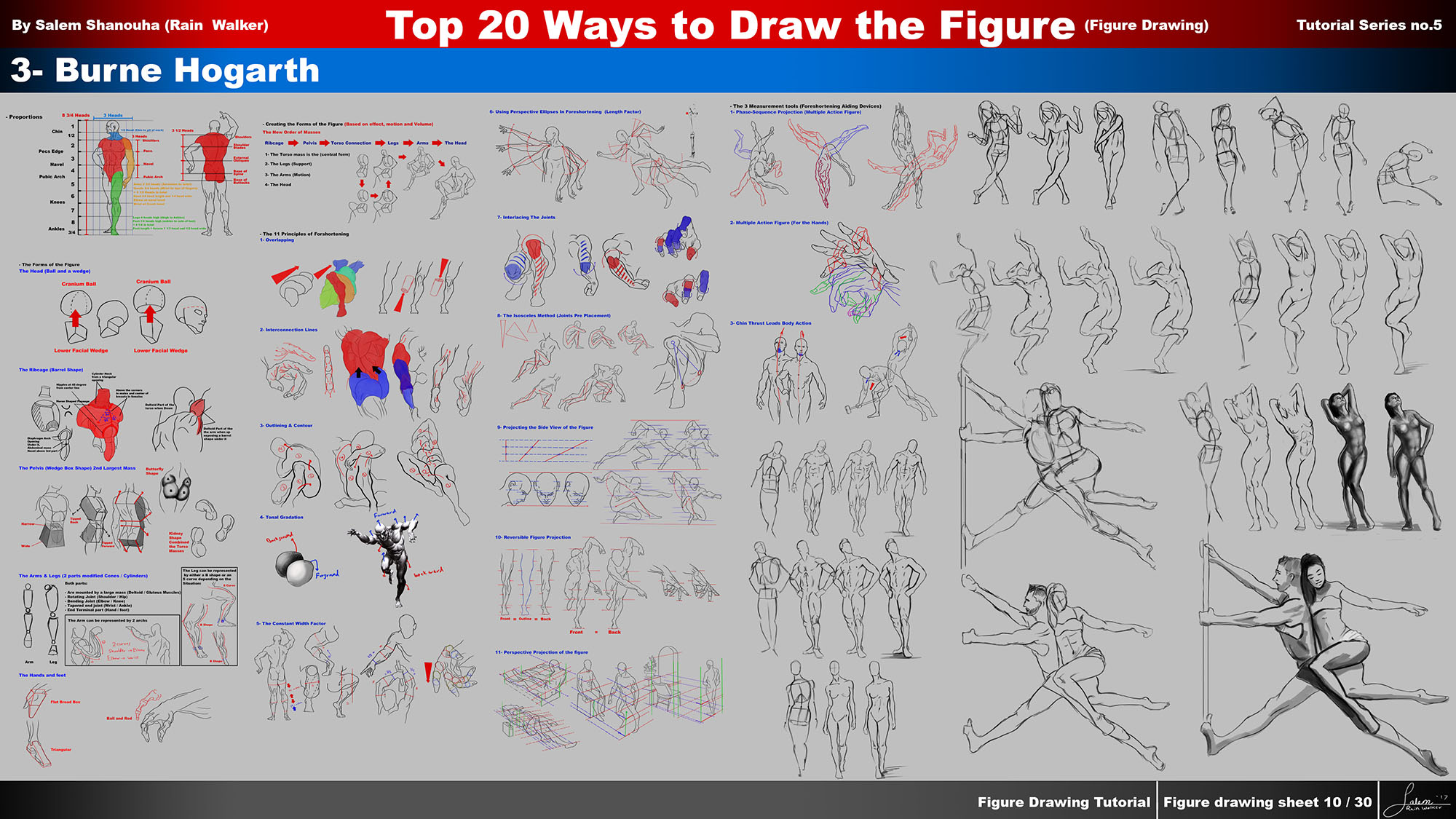 Top 20 ways to draw the figure Chapter 3 (Burne Hogarth)