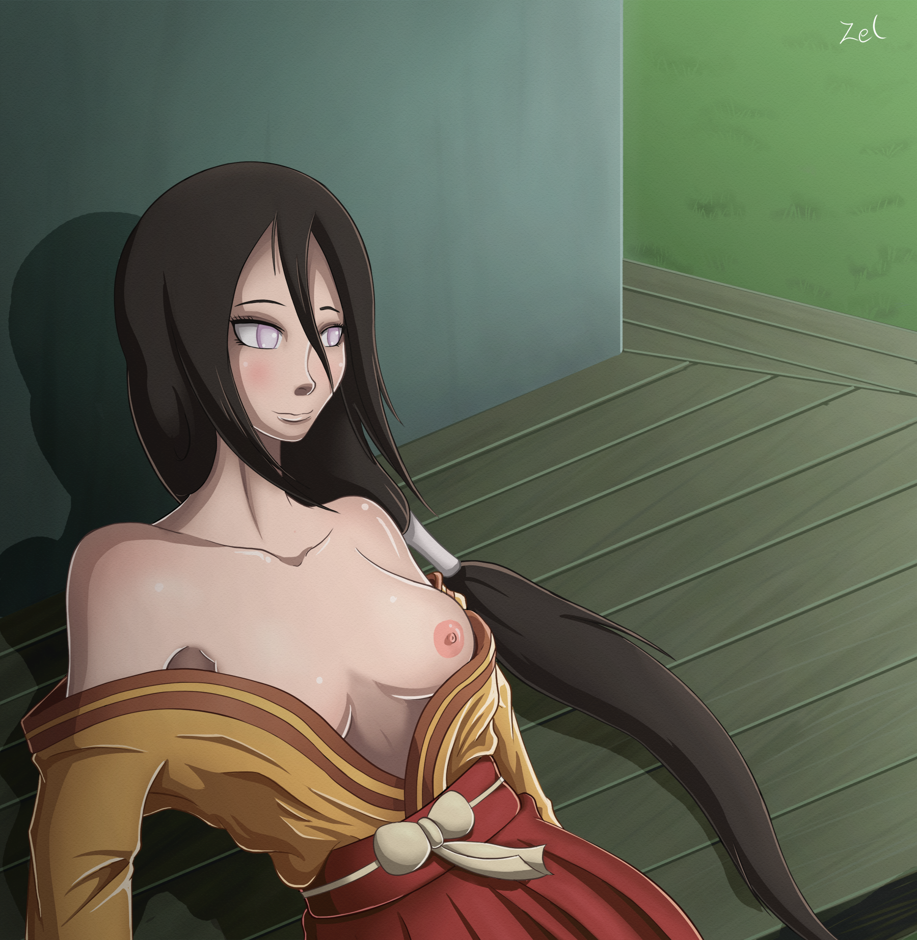 Hanabi Hyuuga relaxing