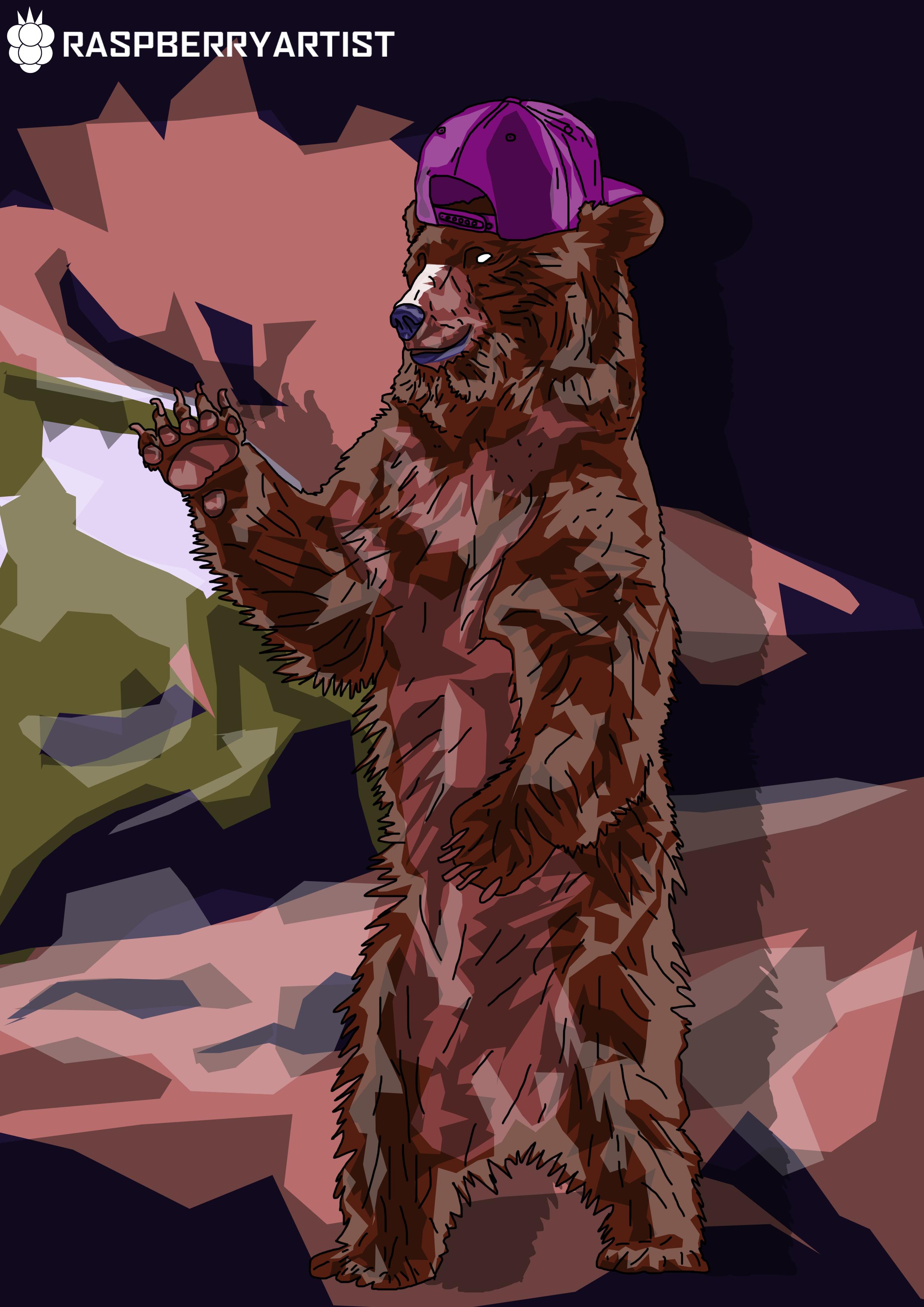 RUDE BEAR CARTOON