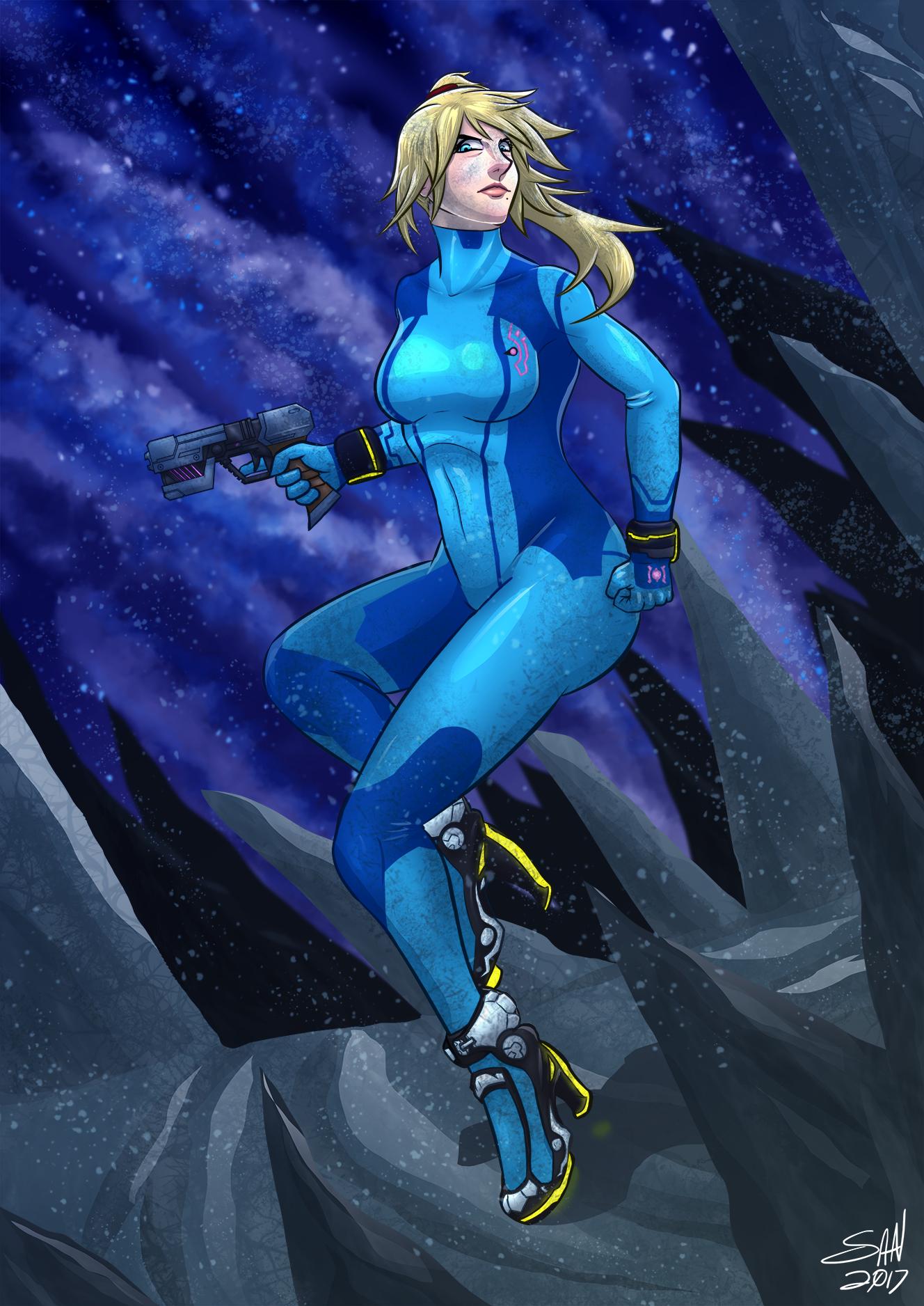 Zero Suit Samus fan art #12945