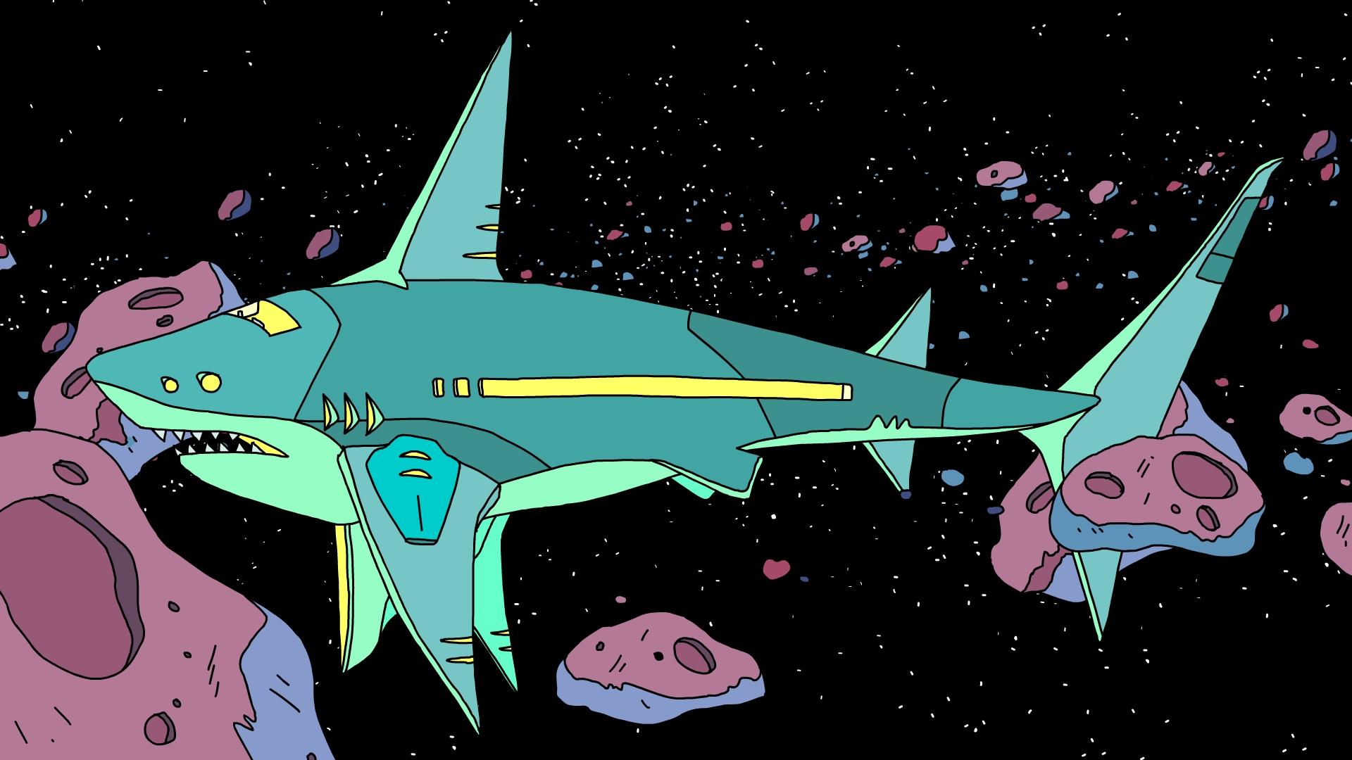 Robo Shark Spaceship!!!