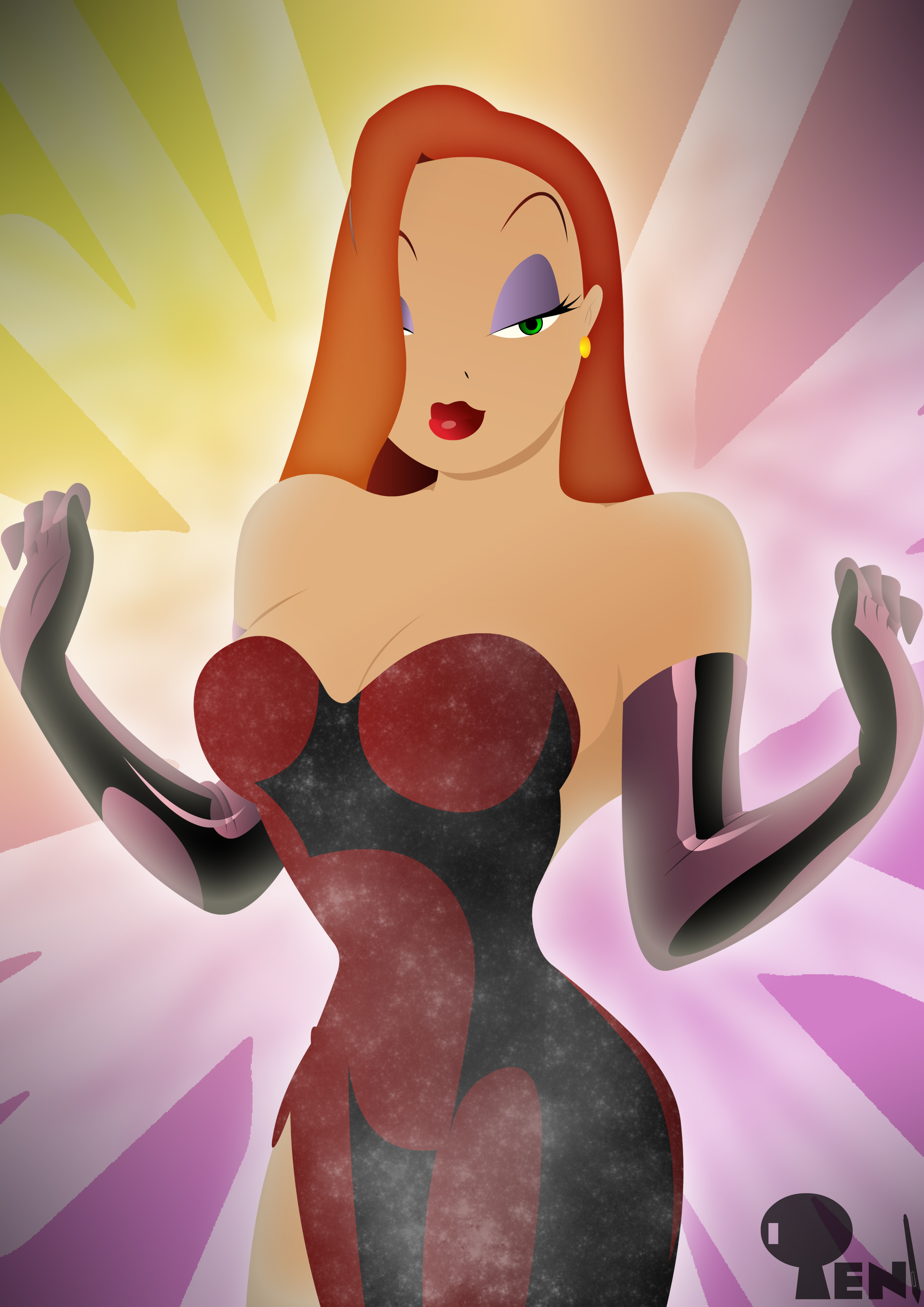 Jessica Rabbit - Pin Up