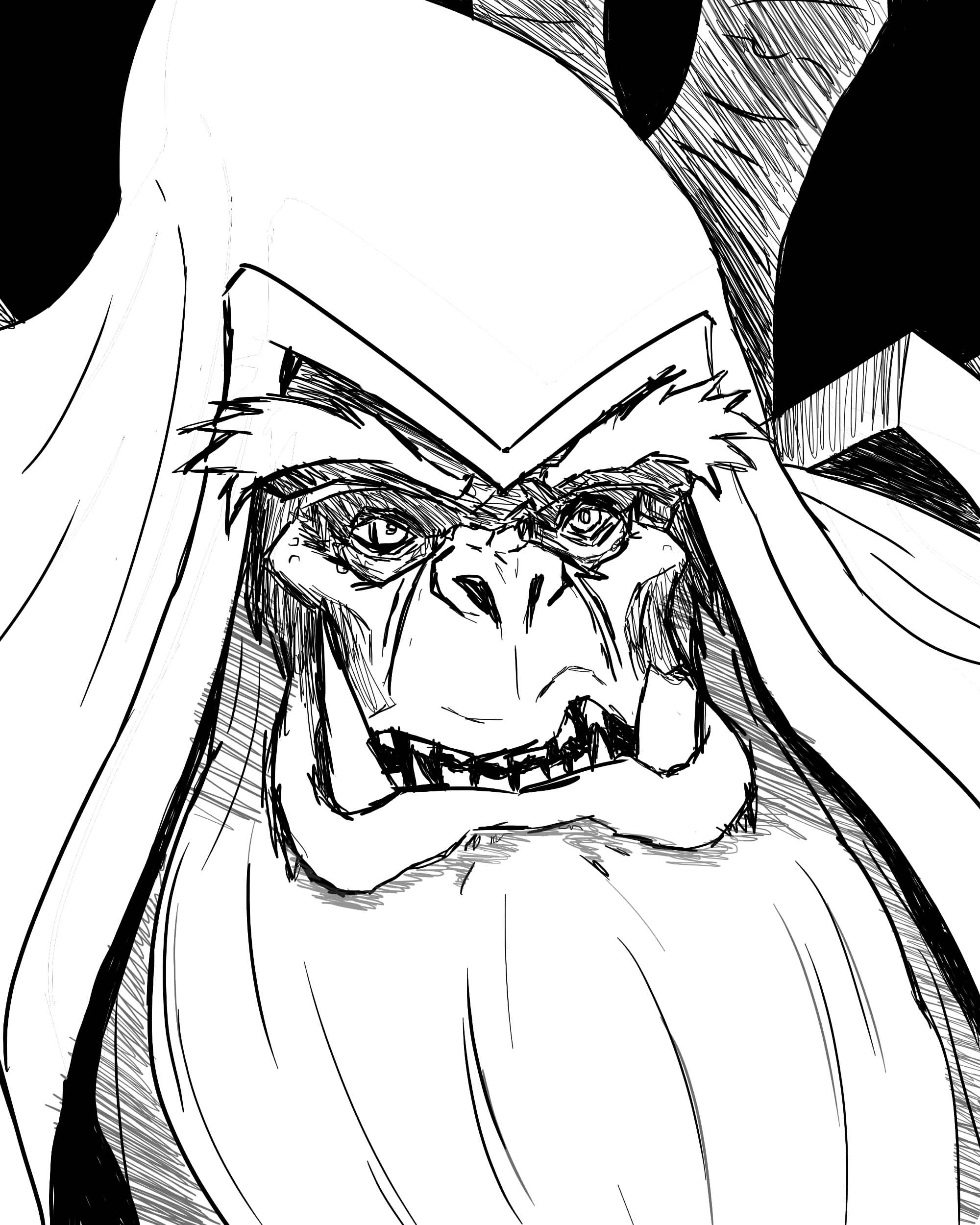 Gul'dan outlines - Warcraft fanart