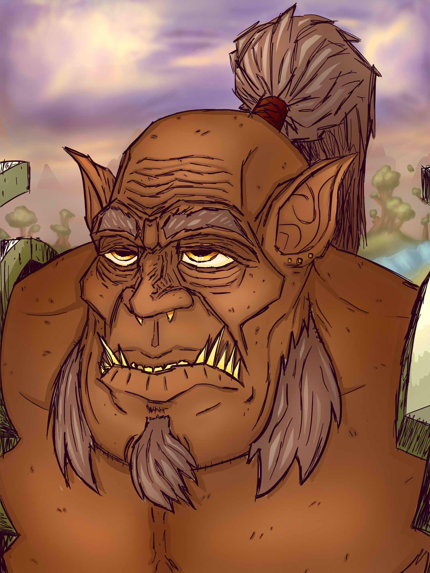 Mag'har Orc finished - Warcraft