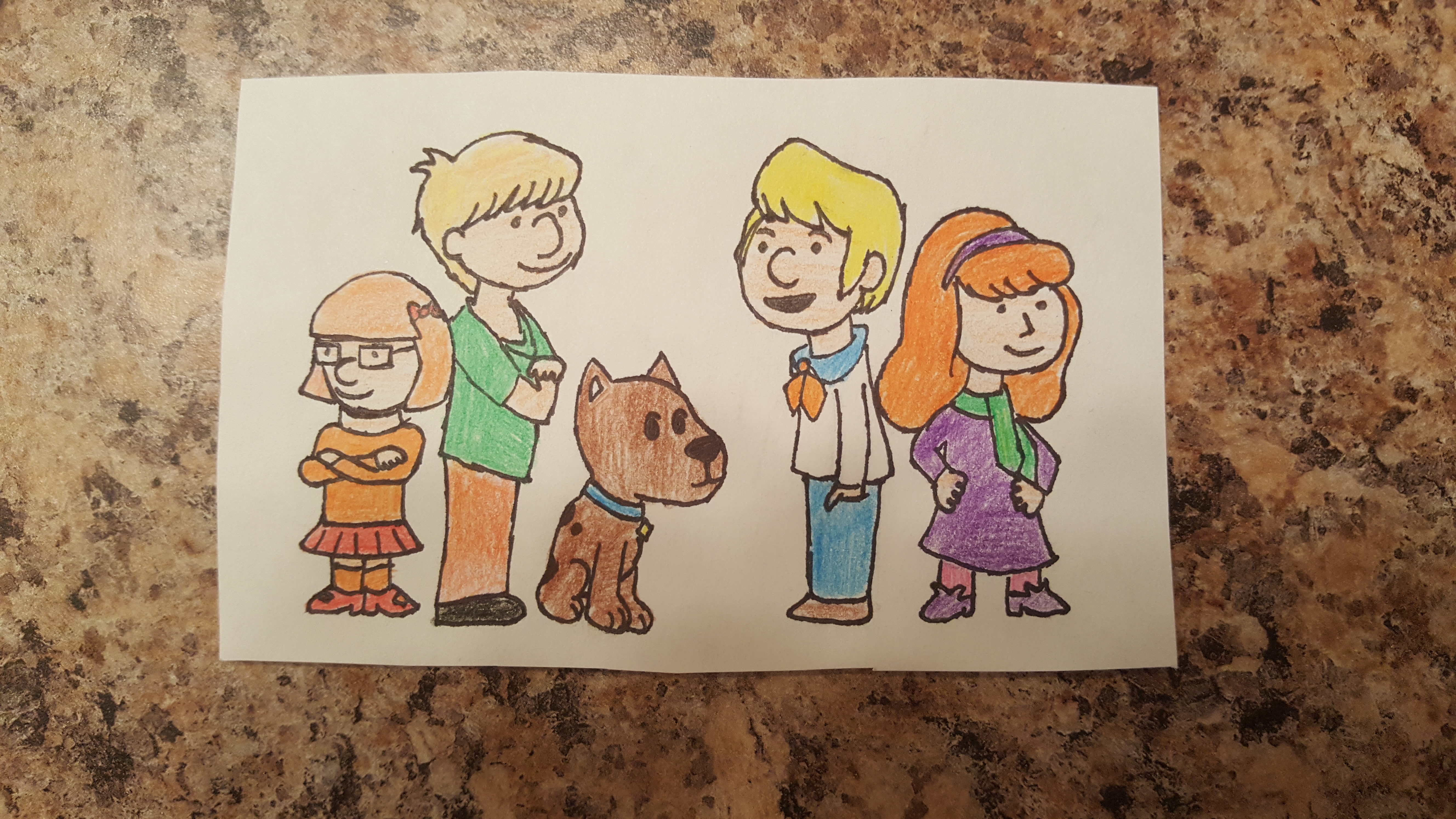Scooby Doo Gang as Charlie Brown characters