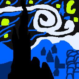 Van Gogh Starry Night Pixel Art