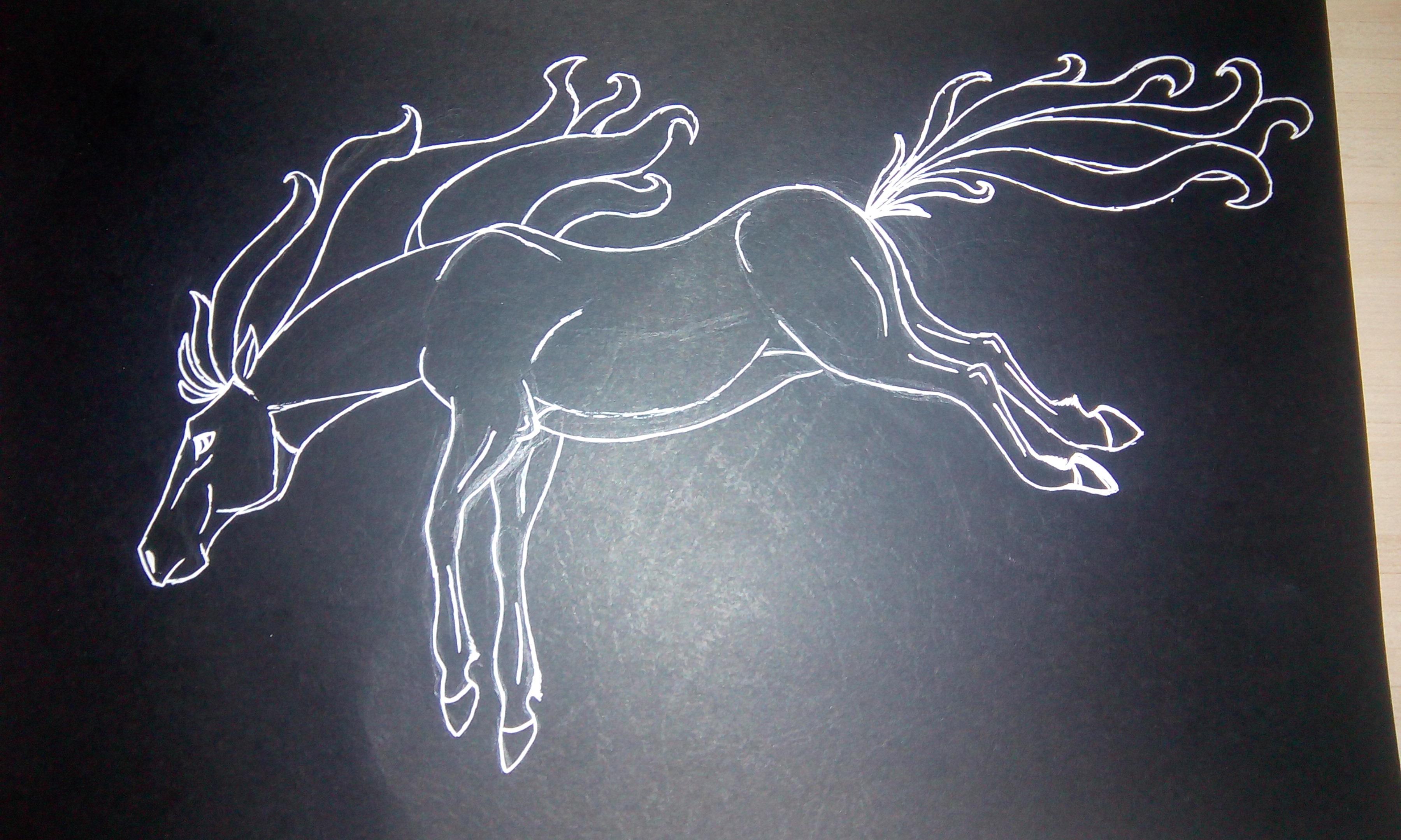 Black Horse Scketch - Work In Progress