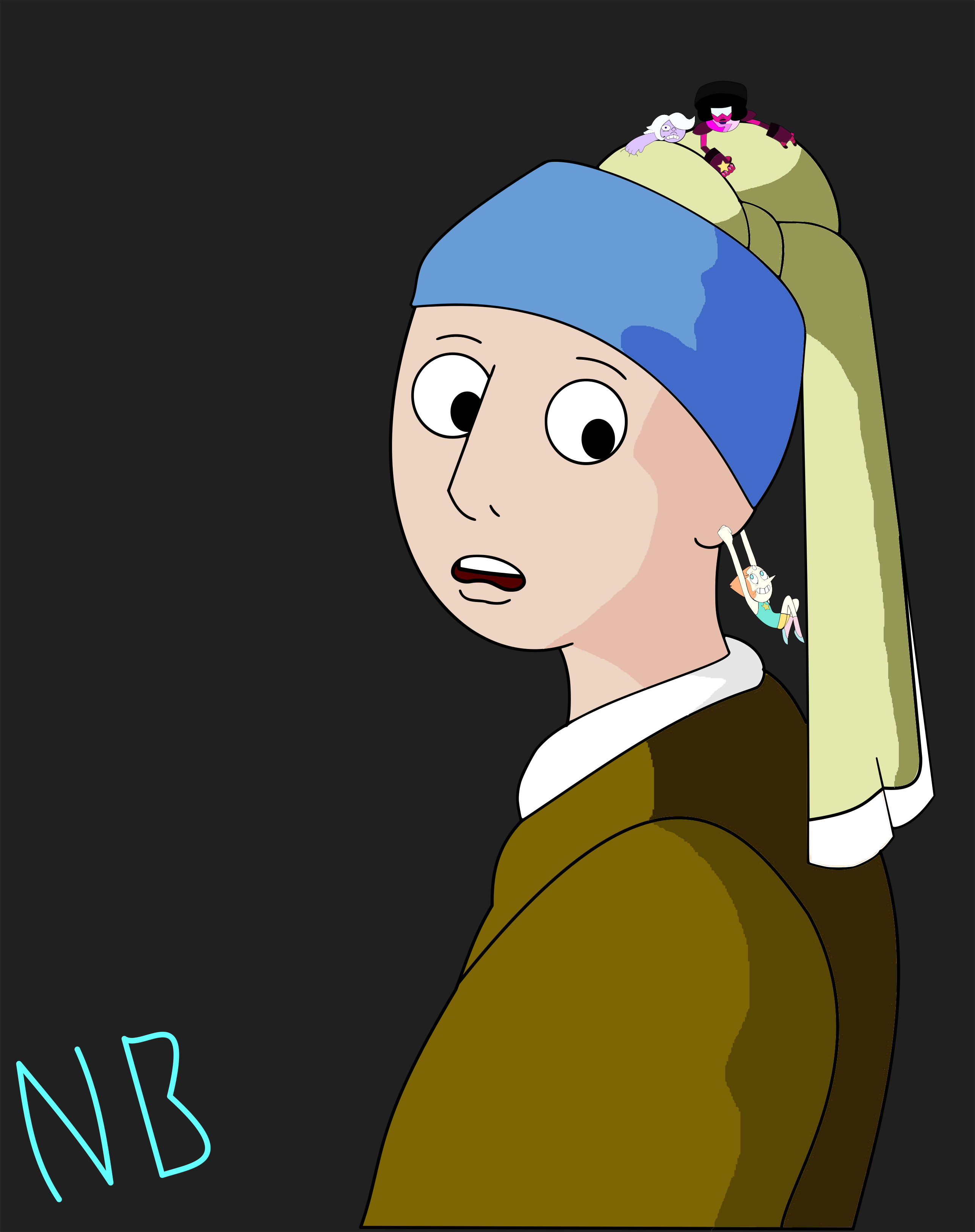 Girl With An Actual Pearl Earring