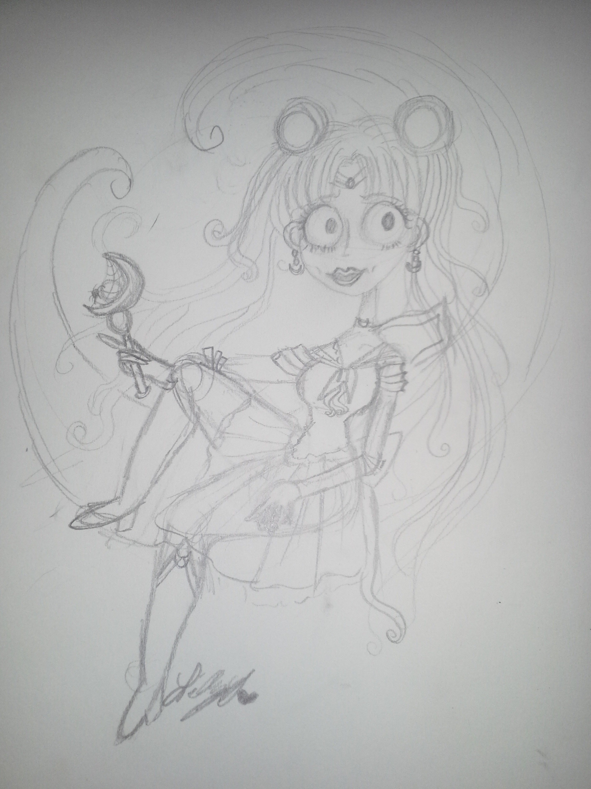 Sailor moon's new style (sketch version)