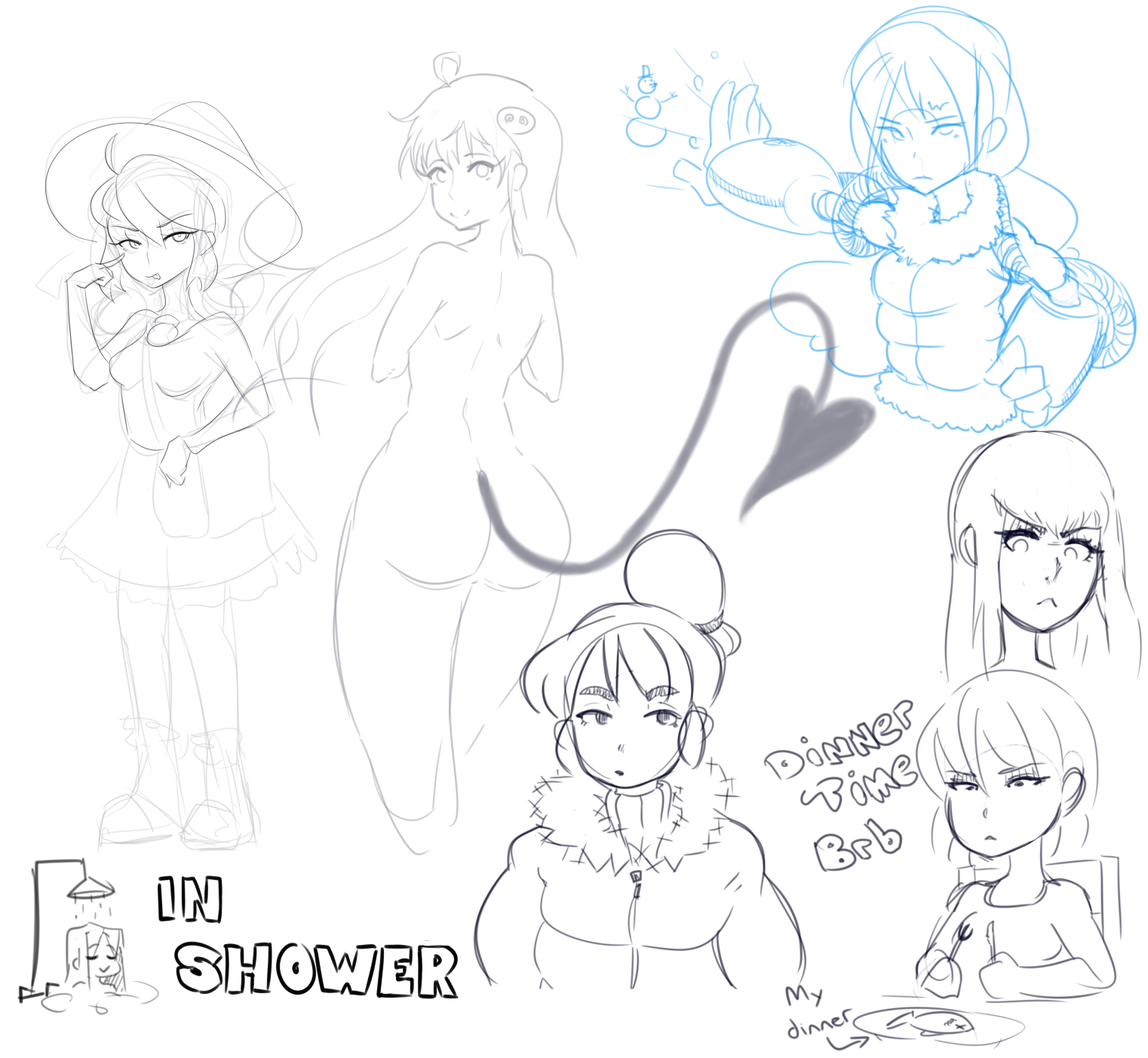 doodles from stream 2 revenge of the incomplete draws
