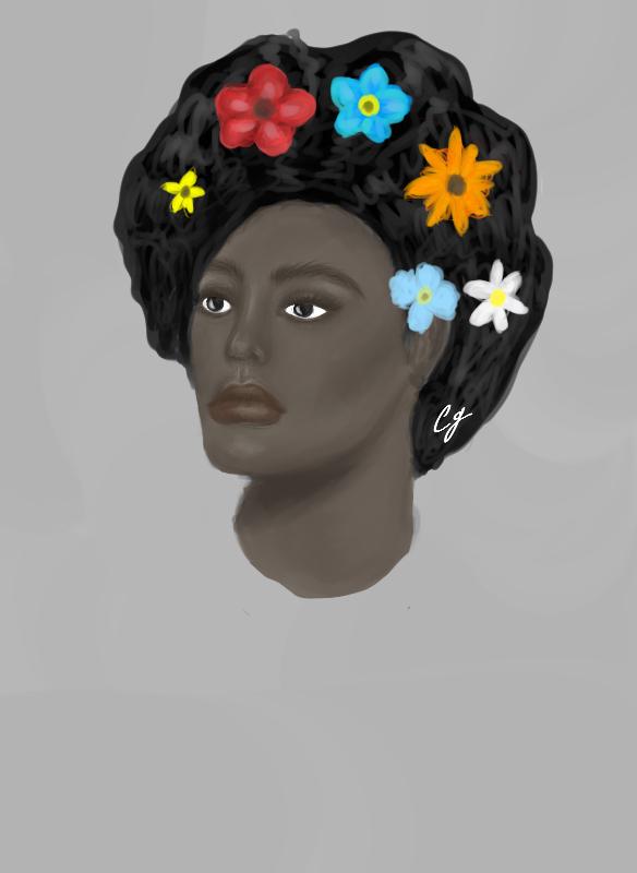 Flowers in mah hair