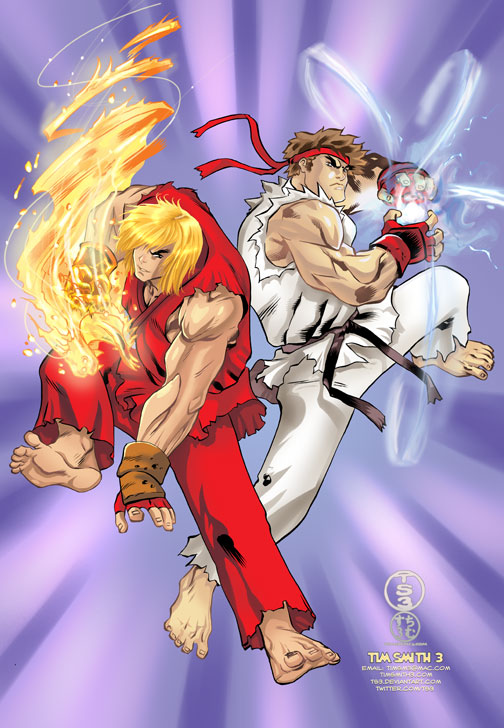 Ryu And Ken By Ts3ts3 On Newgrounds