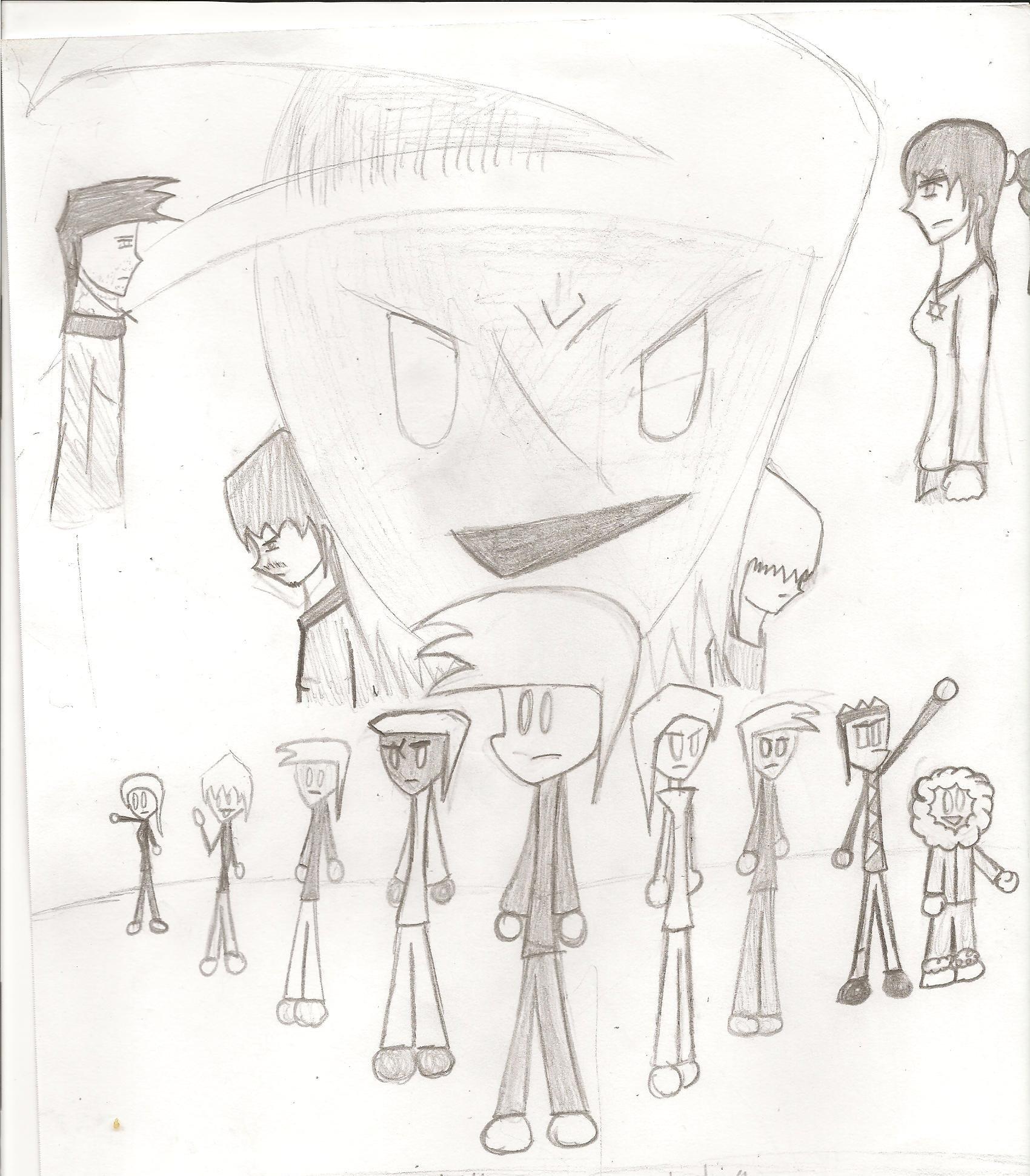 Alien Boy: epic drawing