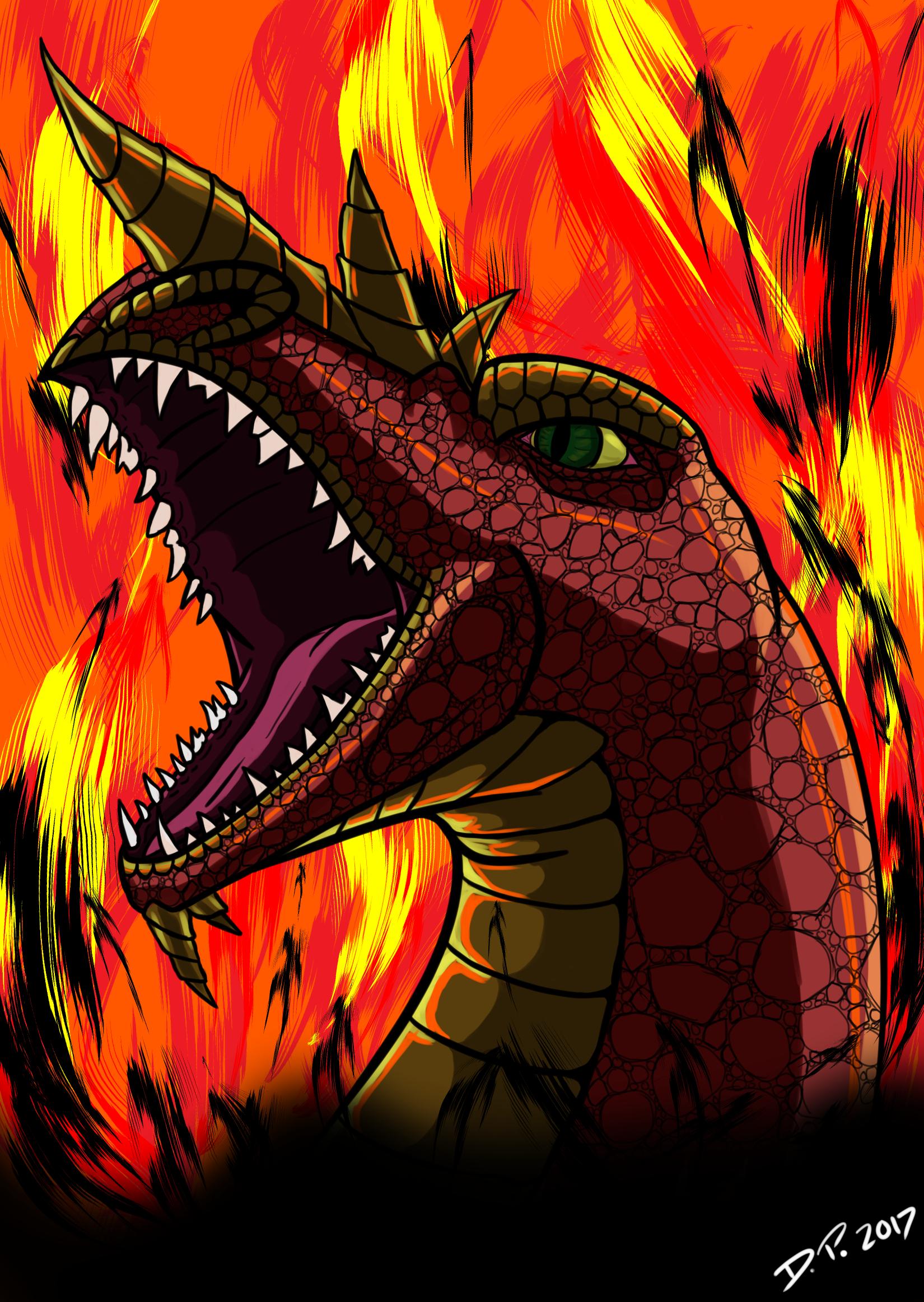 Horned Fire Dragon