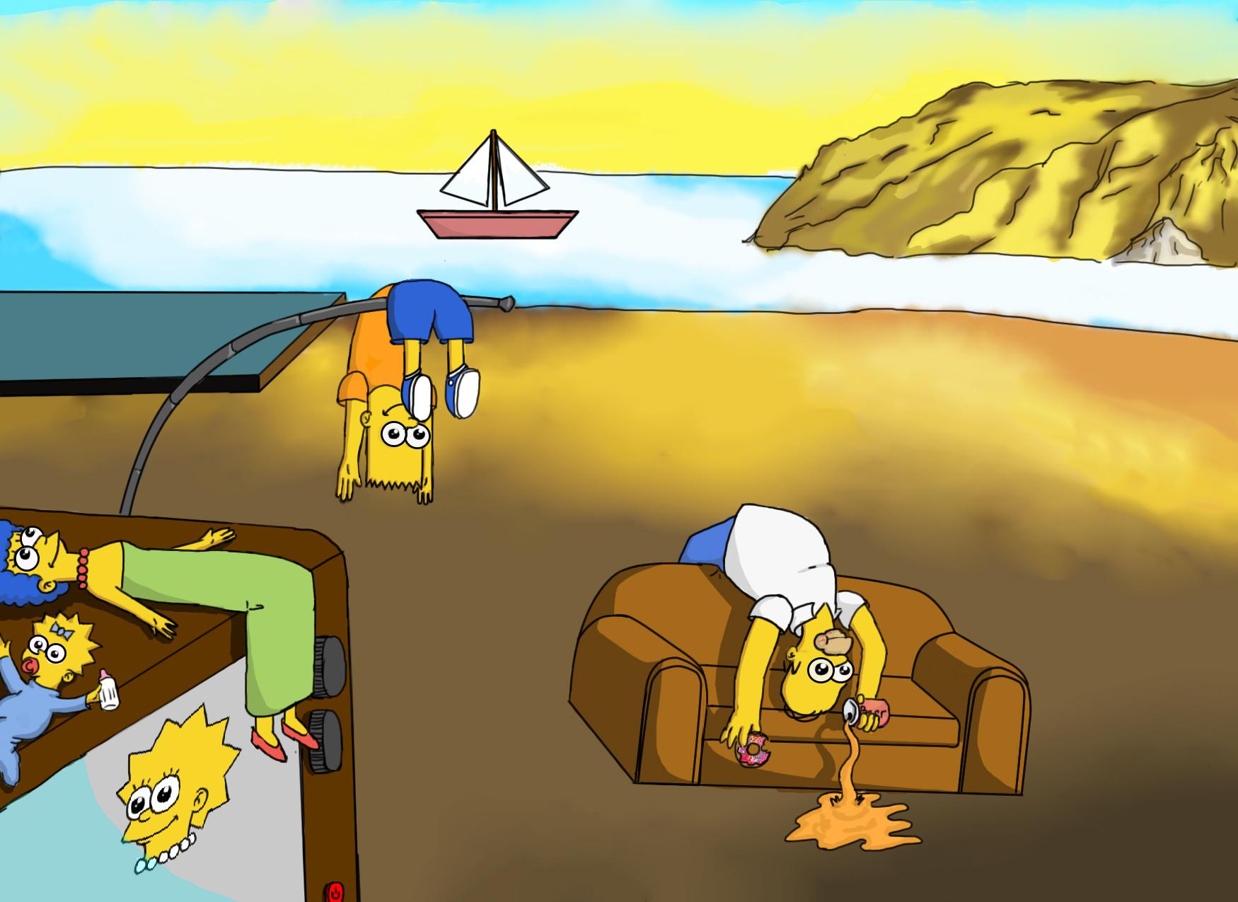 Simpsons/Memory Description by SALVADOR DALÍ