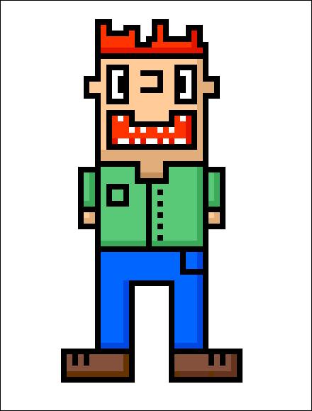 Weird Look'n Dude (Pixel Art)