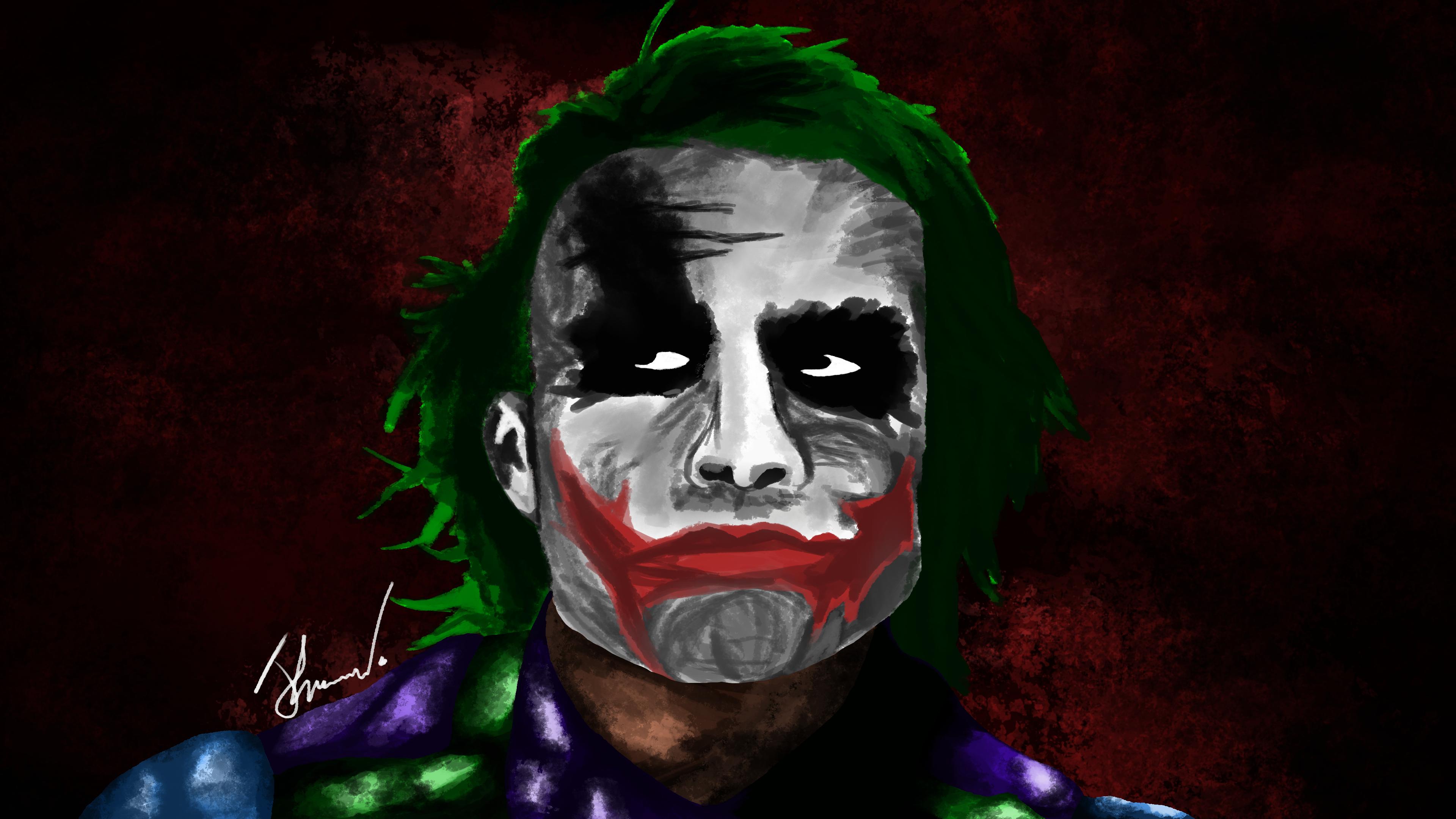 Heath Ledgers' Joker by JarredKeegan on Newgrounds