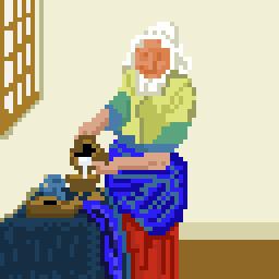 The Milk Maid Pixel Art