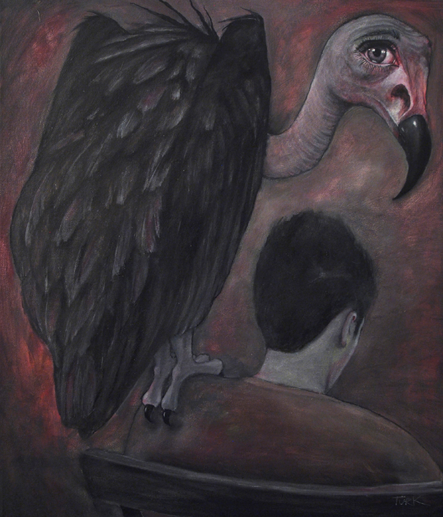 """""""The Shrug"""" - oil on canvas"""