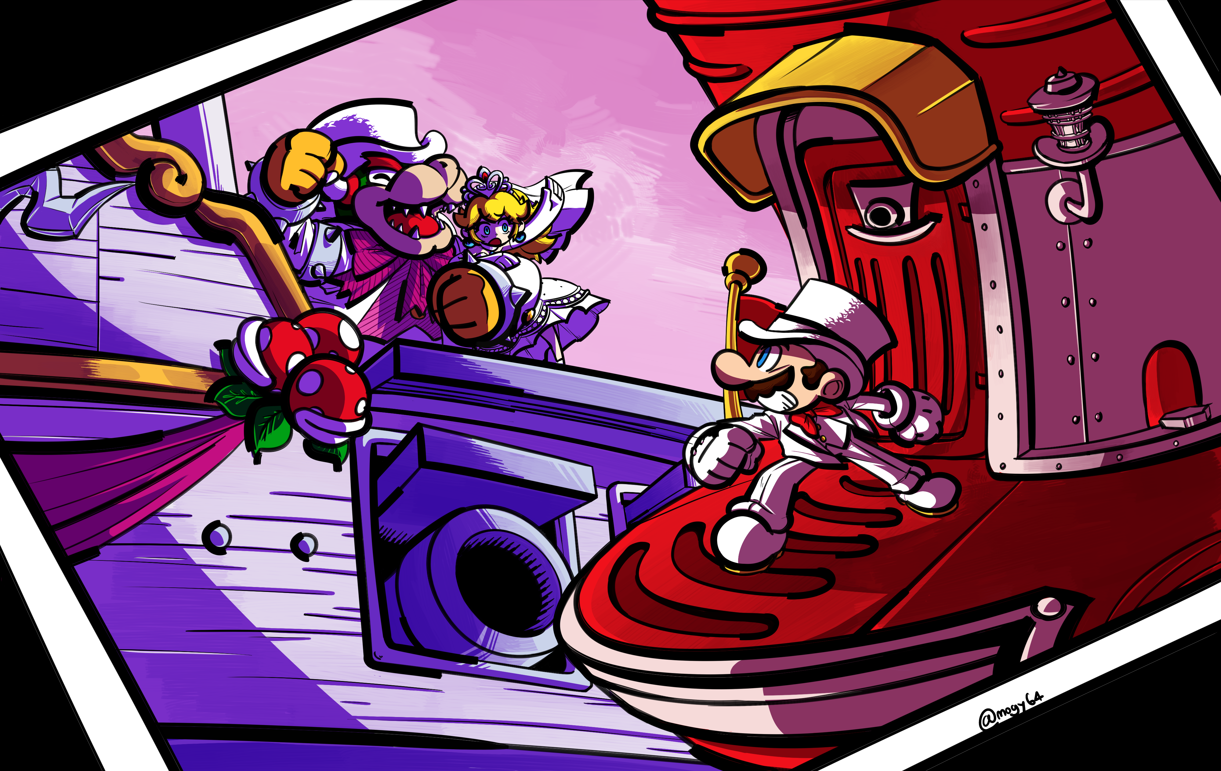 Super mario odyssey by mogy64 on newgrounds for Super mario odyssey paintings