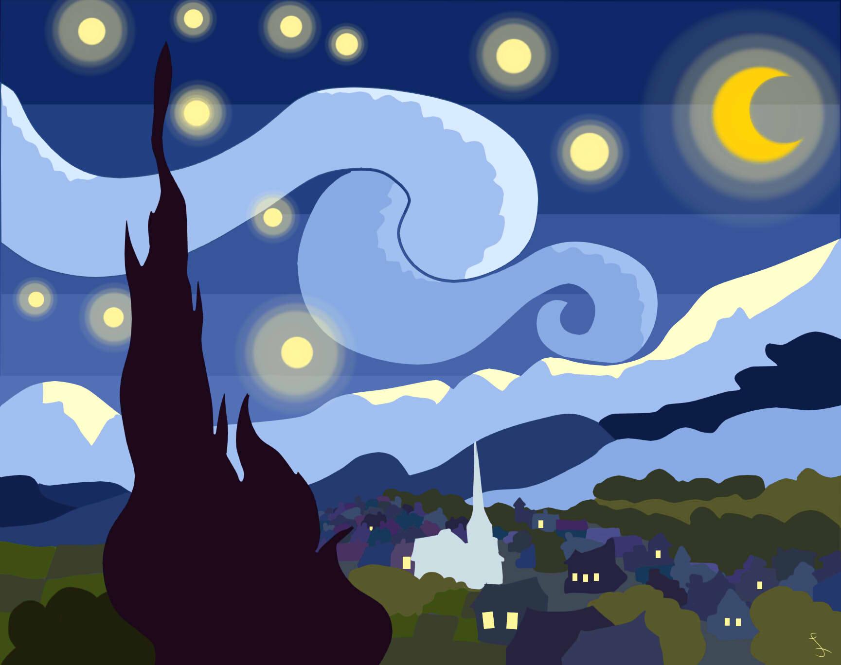 Starry Night Flatscape