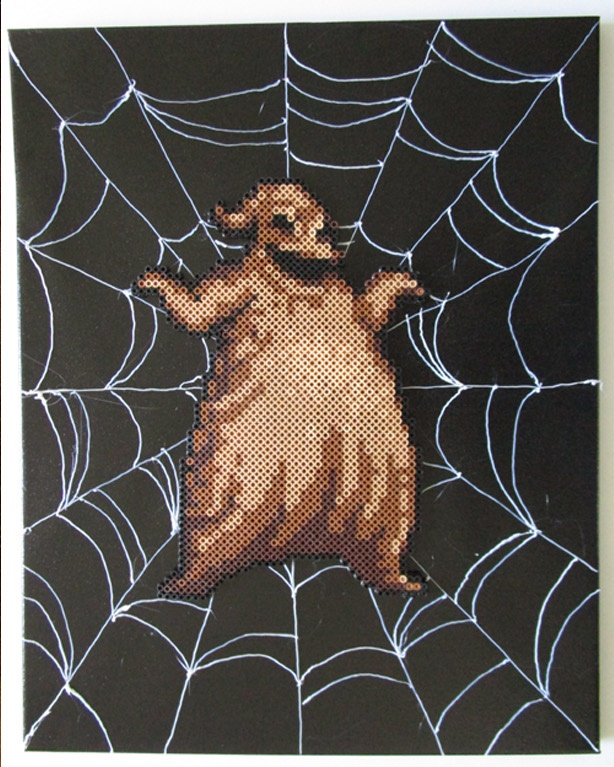 Oogie Boogie Made Out of Perler Beads