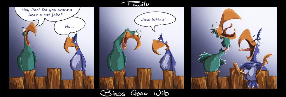 Birds Gone Wild Sketch 2