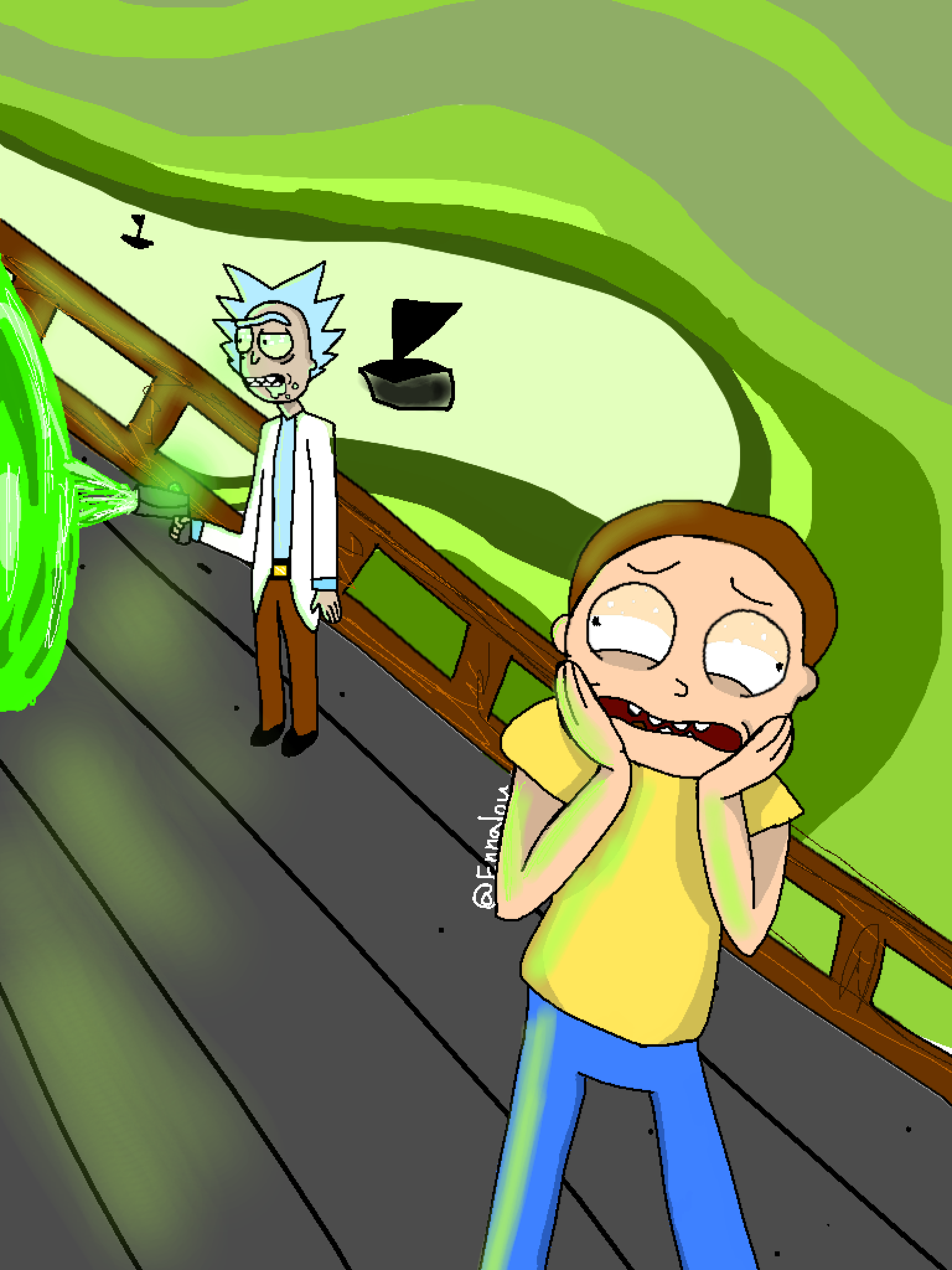 The screaming morty