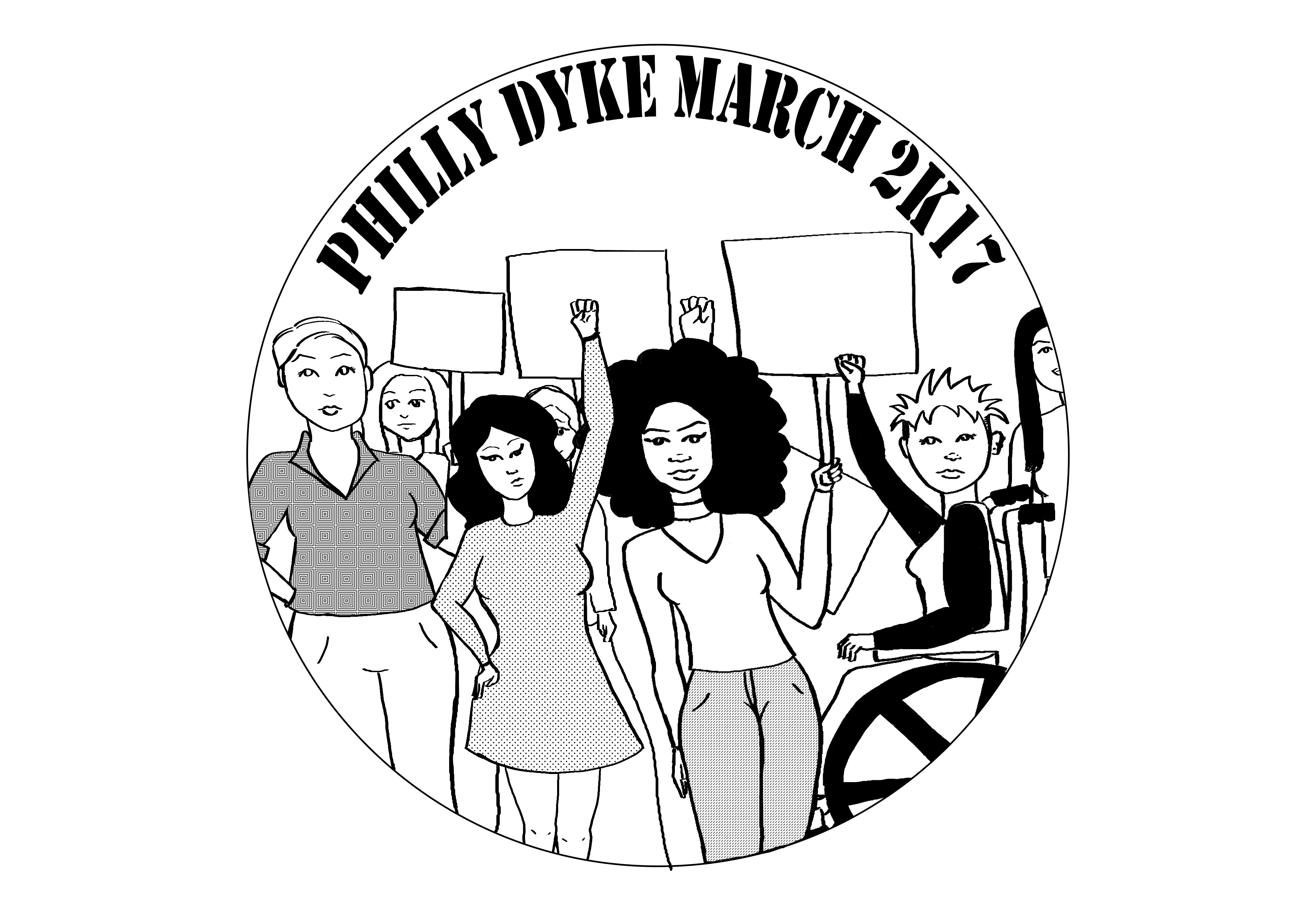 Philly Dyke March T Shirt Design