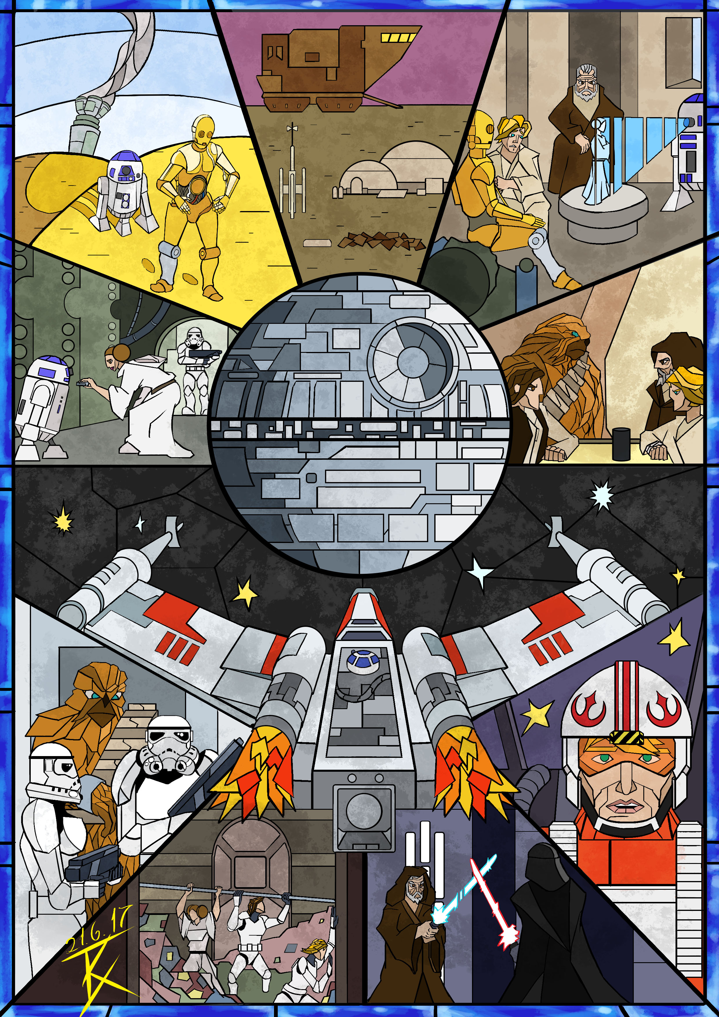Stained Glass Star Wars