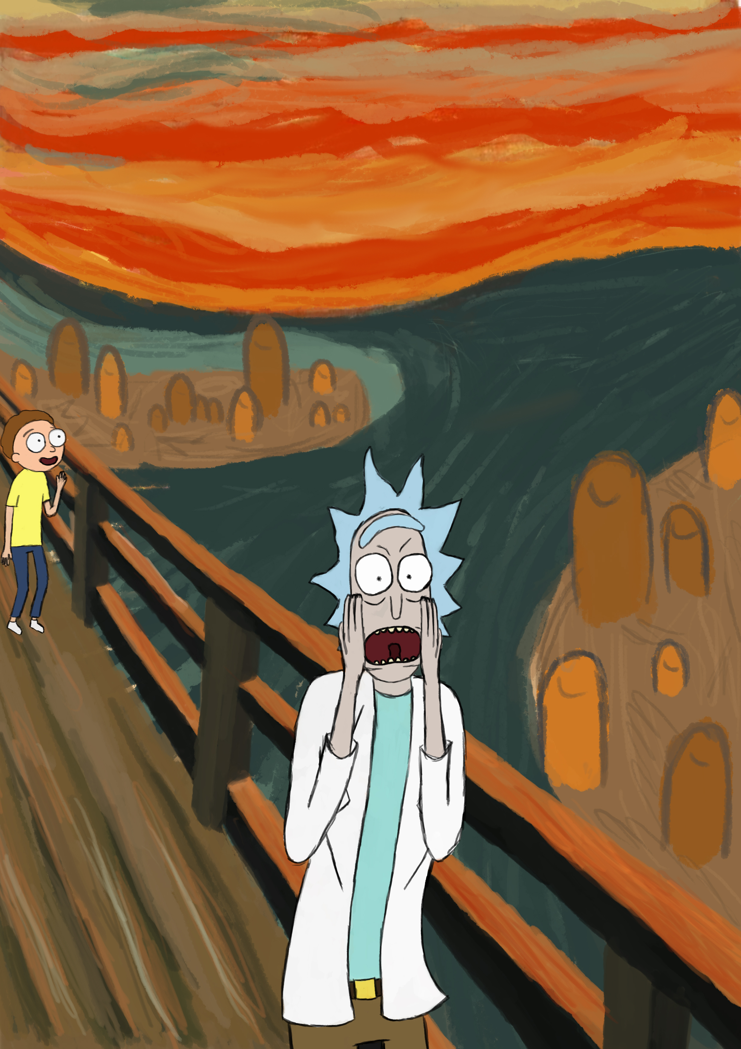 Perks At Work >> Rick and Morty - THE SCREAM by Strangerboii on Newgrounds