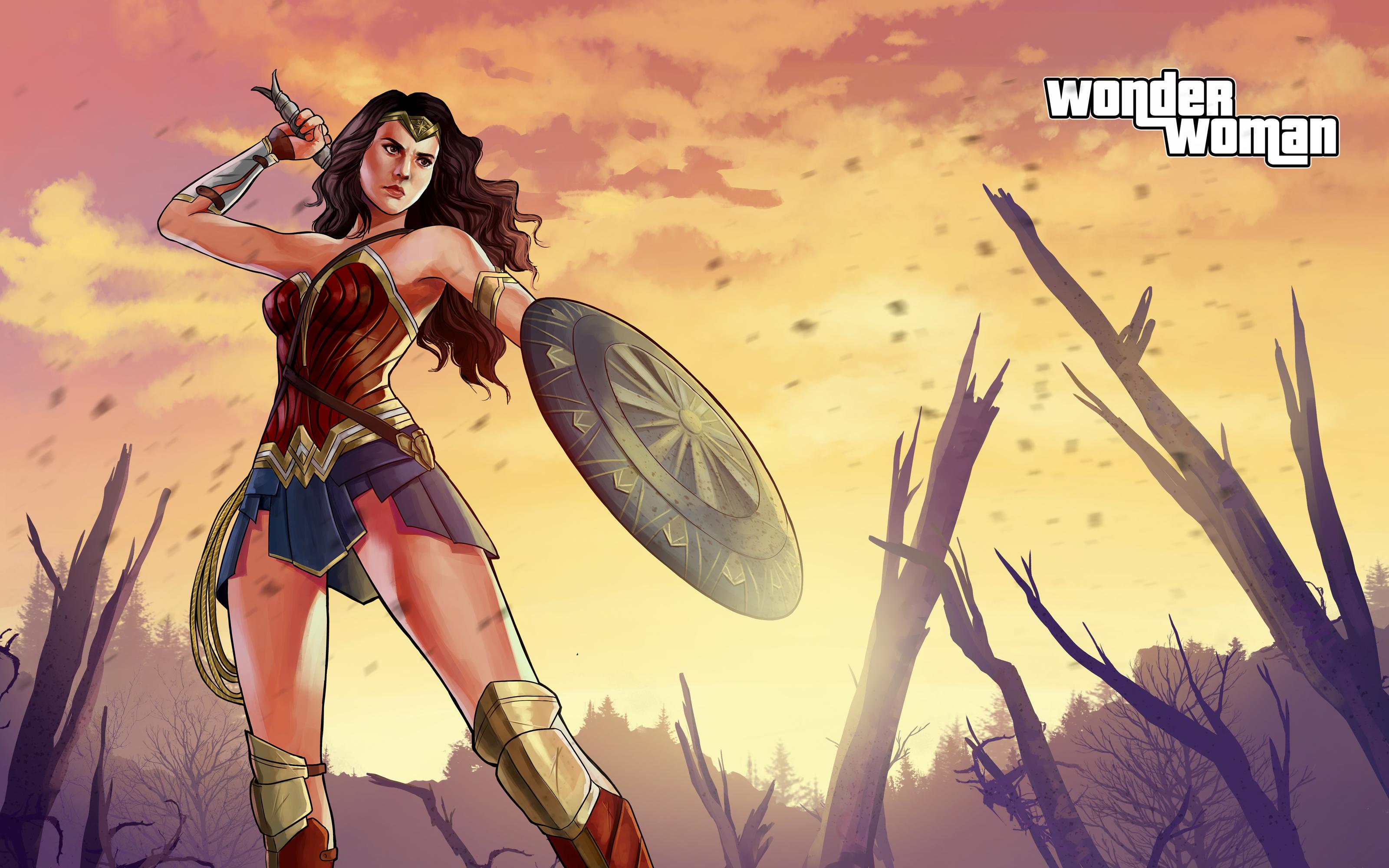 Wonder Woman - GTA V Style Swap