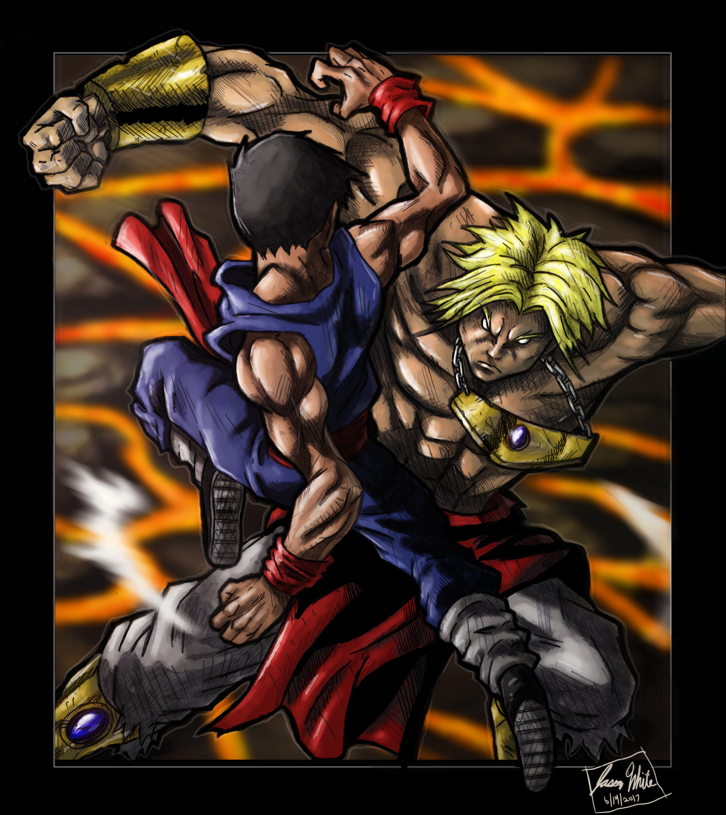Broly vs Gohan (Joe Madureira style)