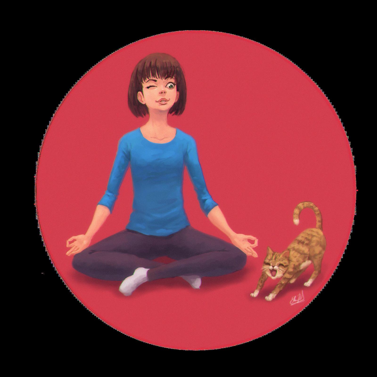 Meditation and a Cat