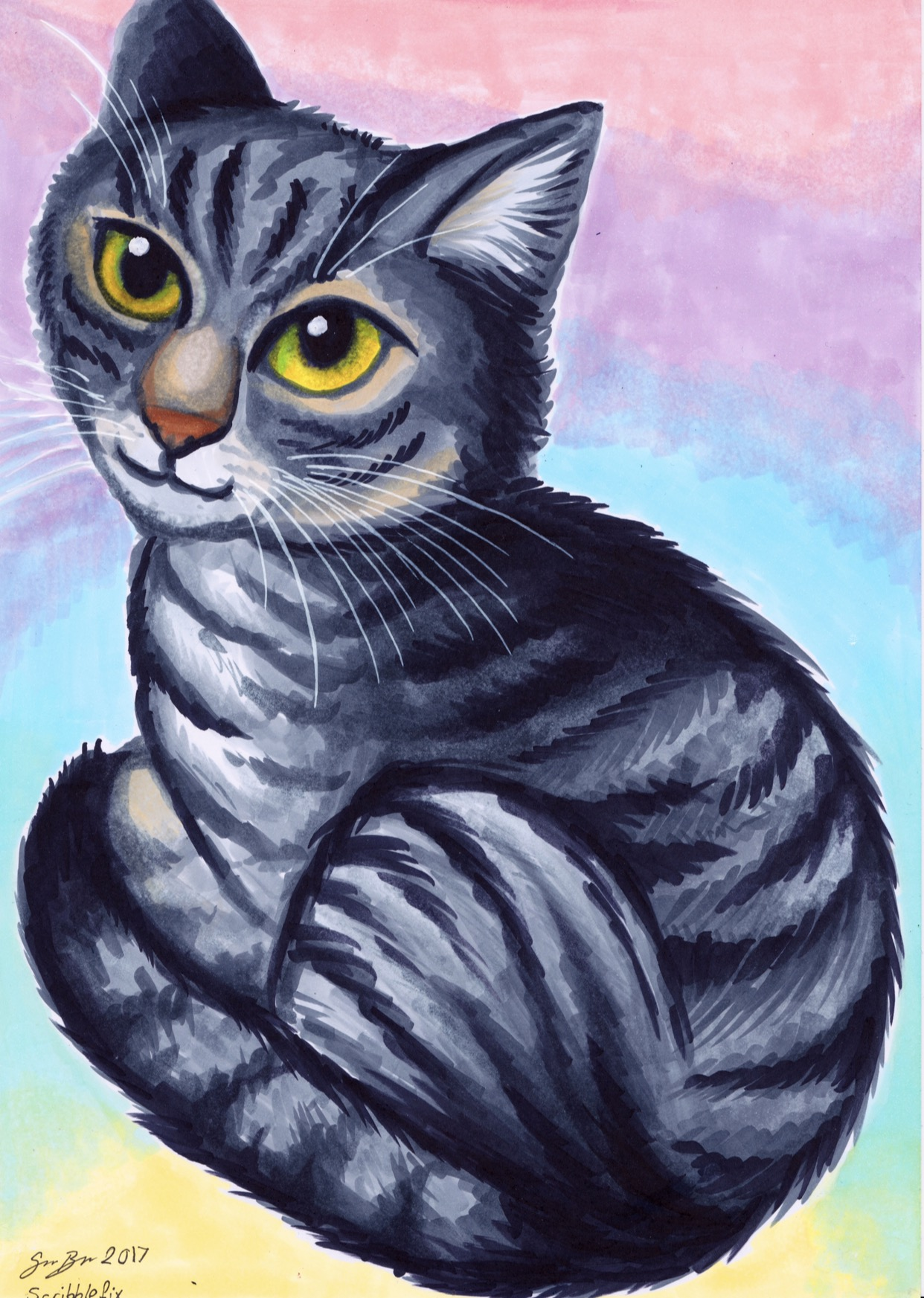 Eevee the cat - pet portrait