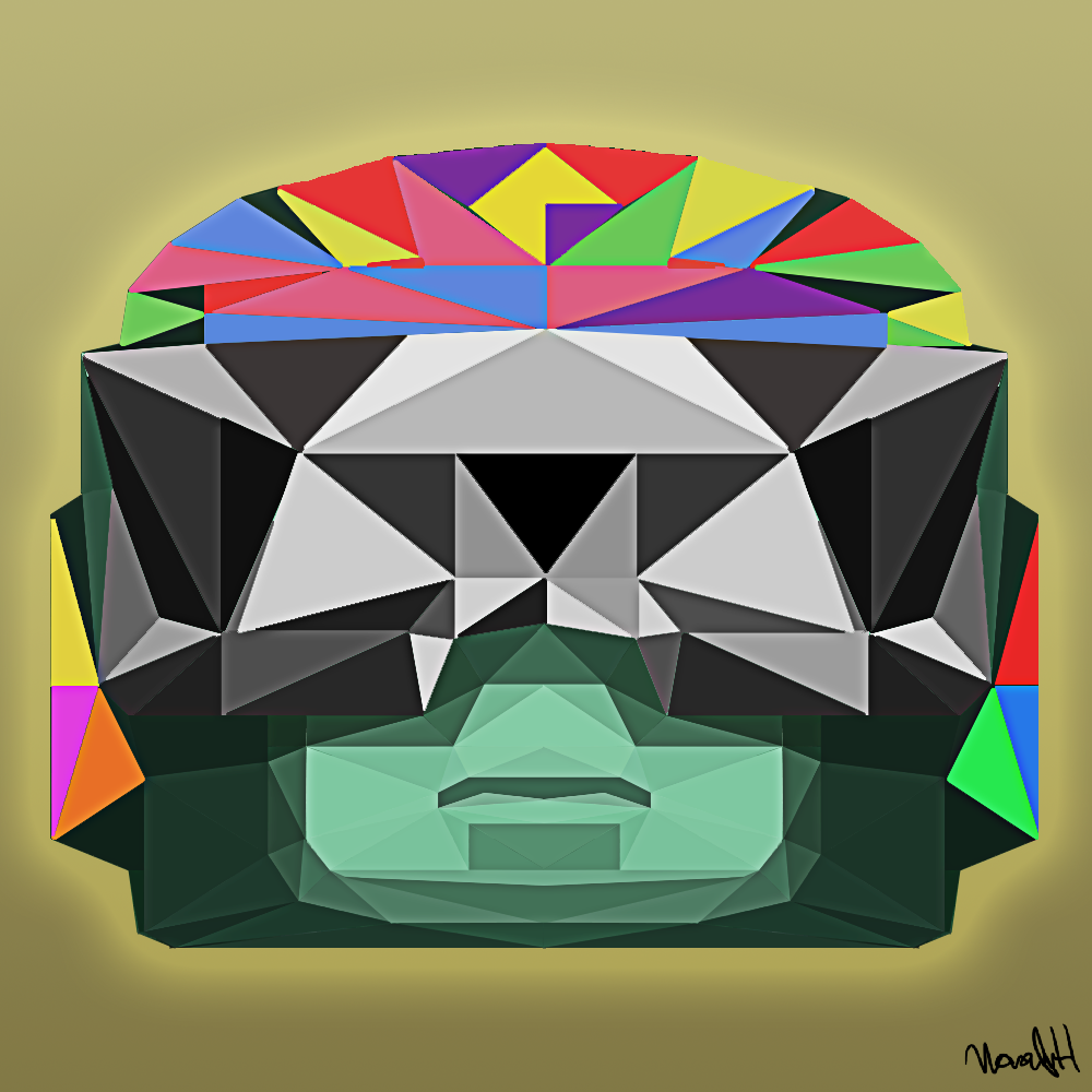 Rainbow Polygon Tank Man